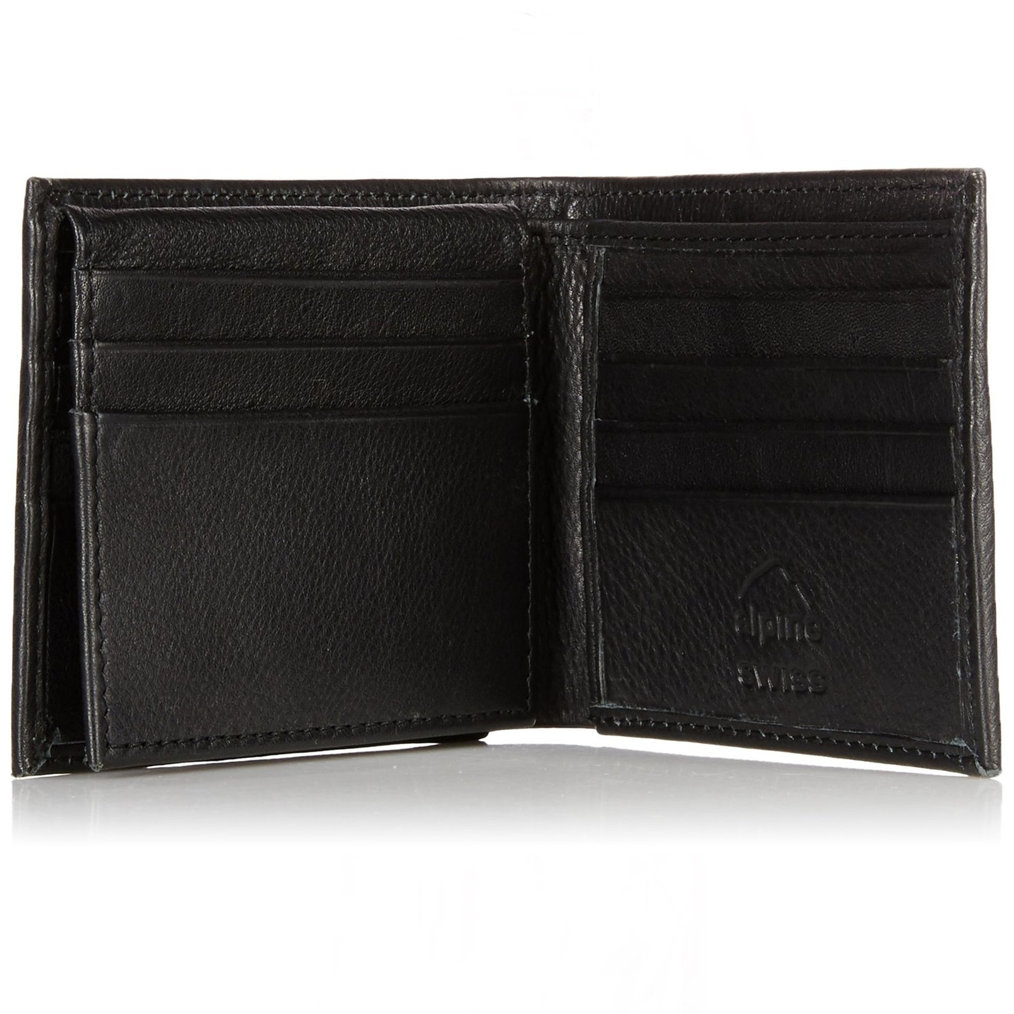 RFID-SAFE-Alpine-Swiss-Mens-Deluxe-Wallet-Genuine-Leather-14-Pocket-ID-Bifold thumbnail 20
