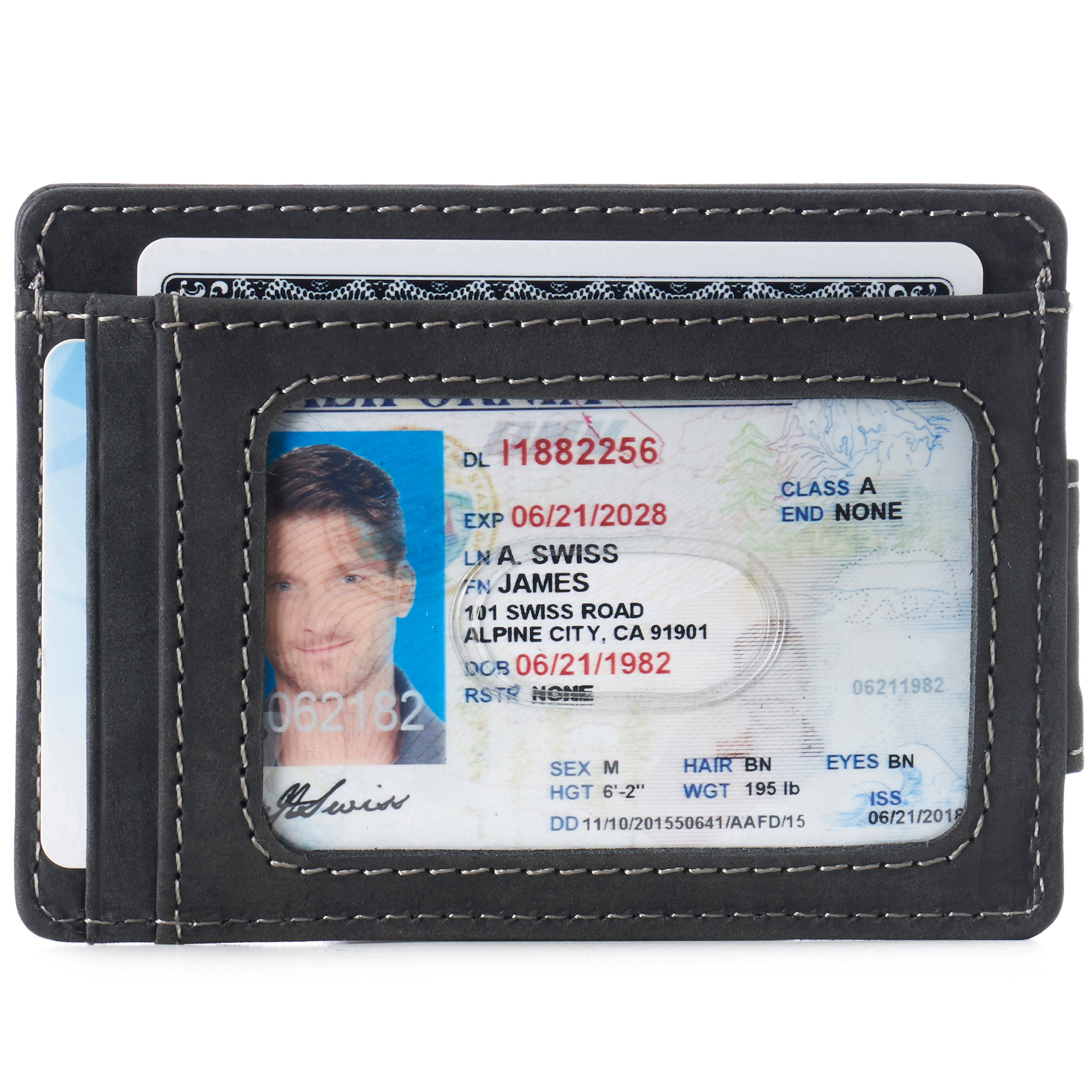 thumbnail 26 - Alpine Swiss Mens RFID Safe Slim Magnetic Money Clip Leather Front Pocket Wallet