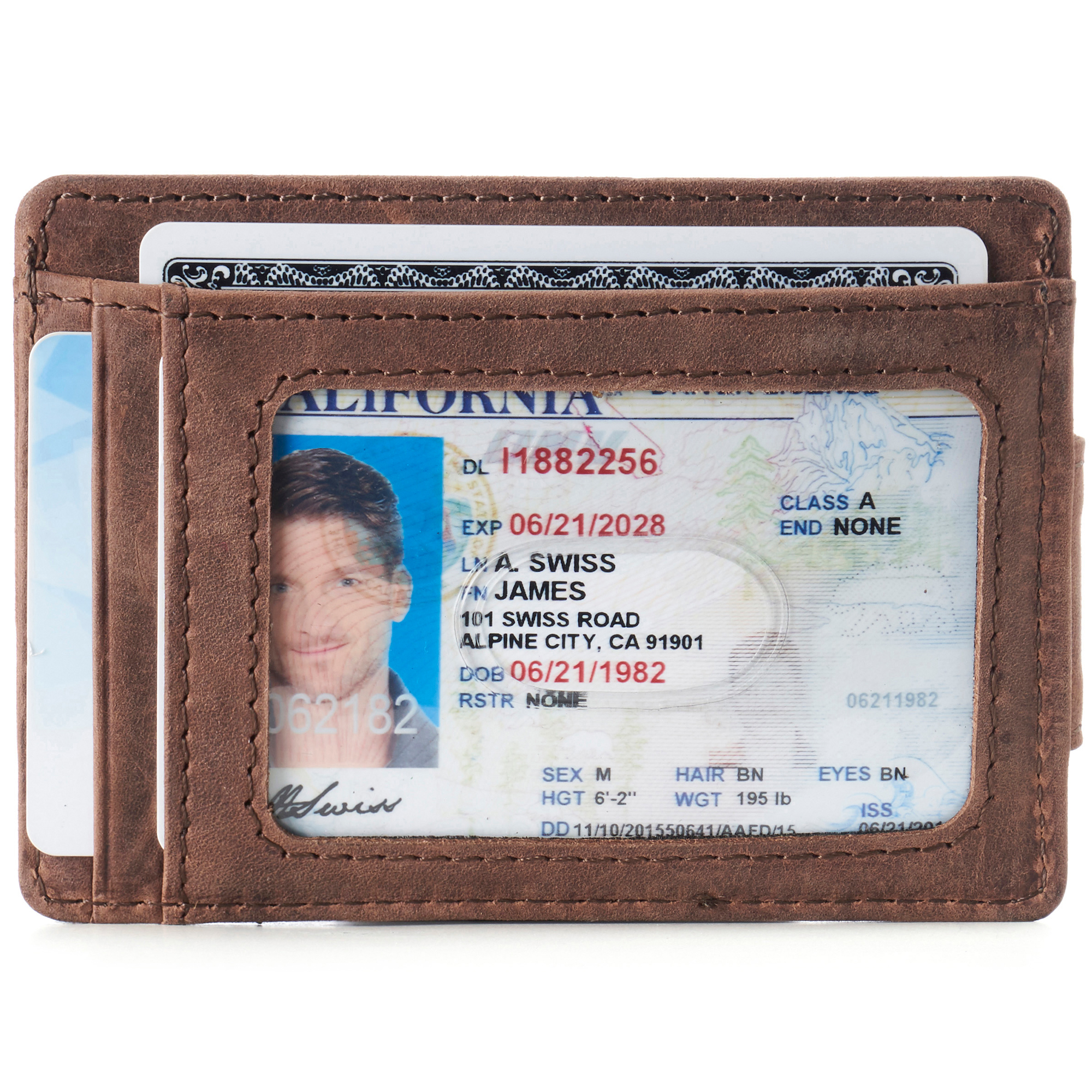 thumbnail 32 - Alpine Swiss Mens RFID Safe Slim Magnetic Money Clip Leather Front Pocket Wallet