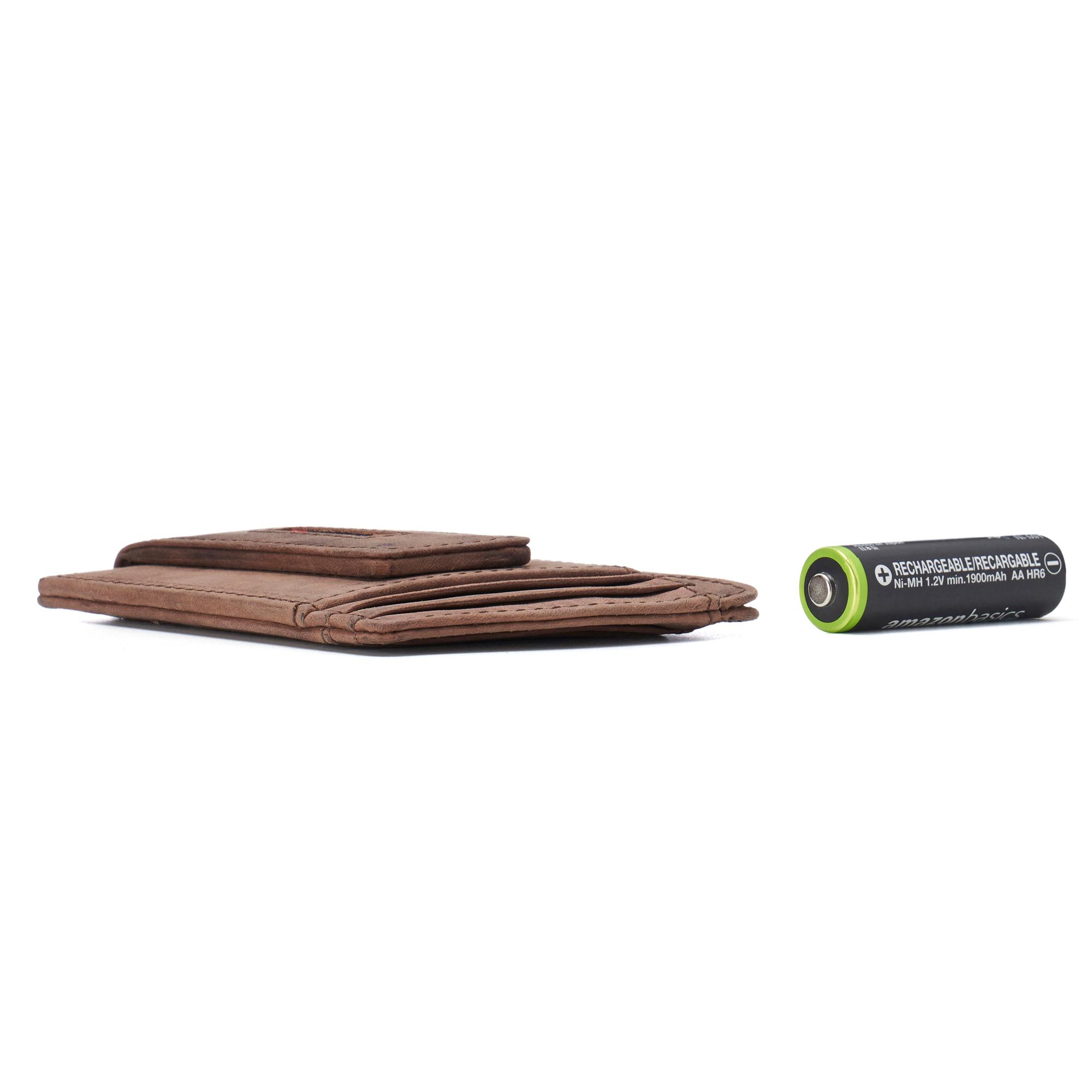 thumbnail 34 - Alpine Swiss Mens RFID Safe Slim Magnetic Money Clip Leather Front Pocket Wallet