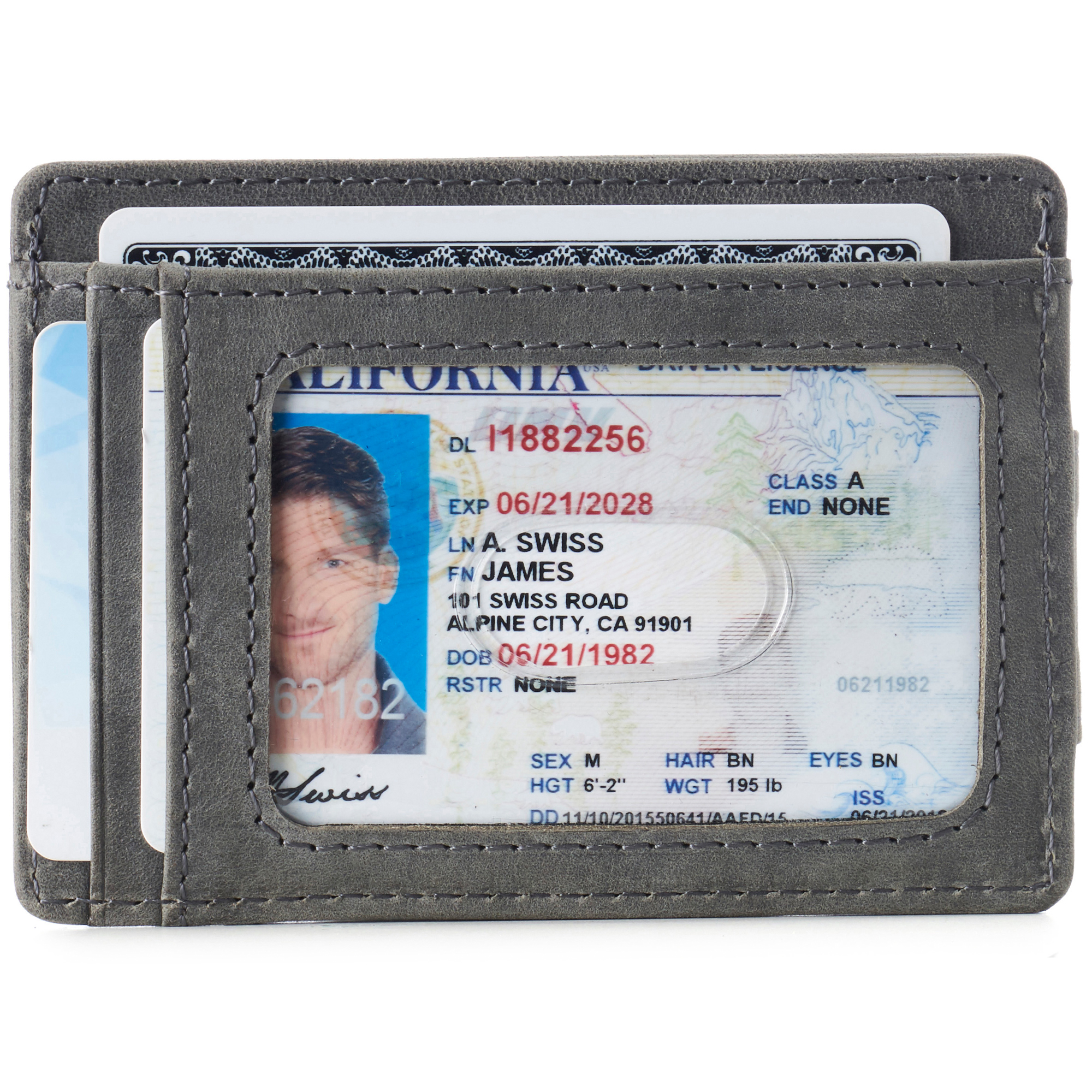 thumbnail 38 - Alpine Swiss Mens RFID Safe Slim Magnetic Money Clip Leather Front Pocket Wallet