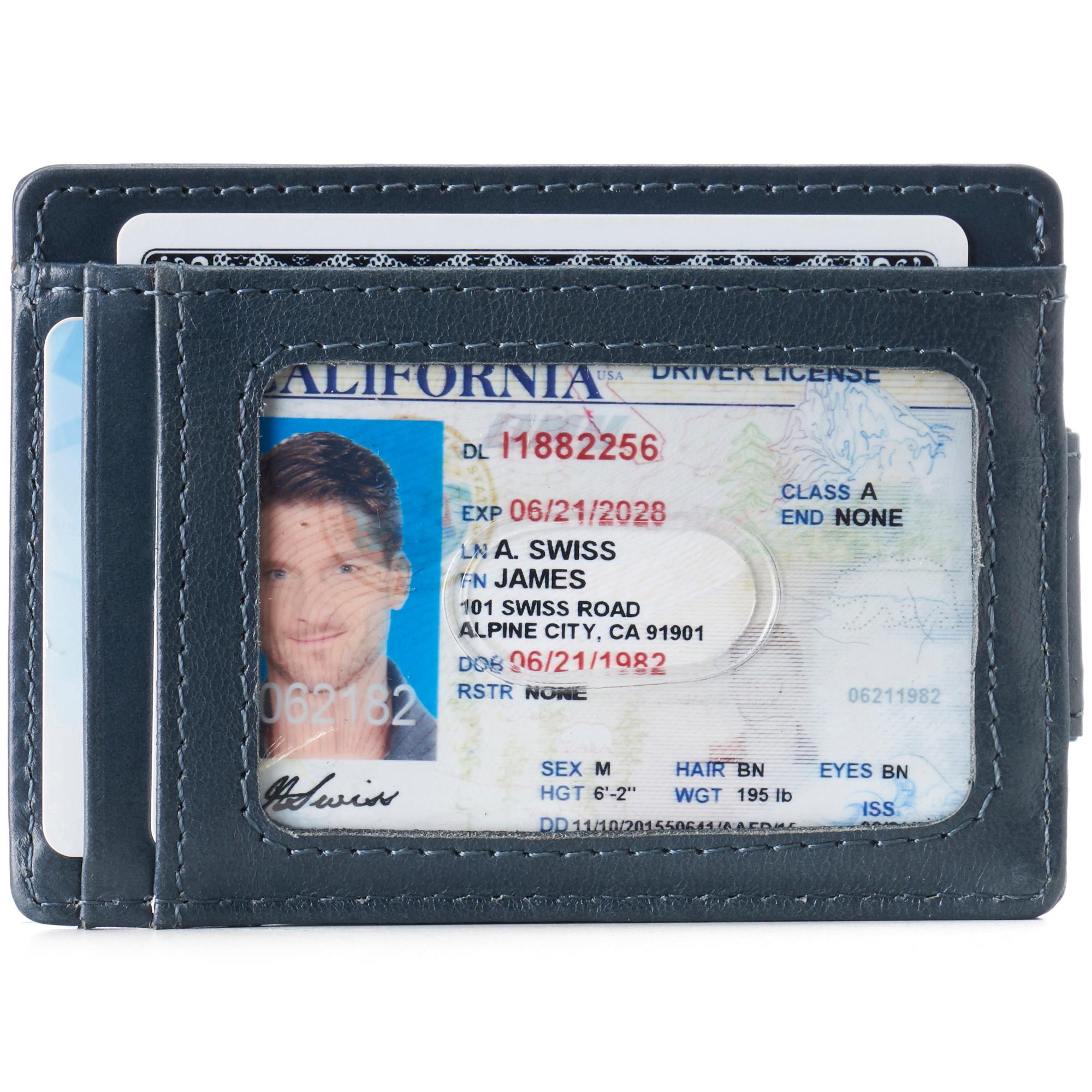 thumbnail 56 - Alpine Swiss Mens RFID Safe Slim Magnetic Money Clip Leather Front Pocket Wallet