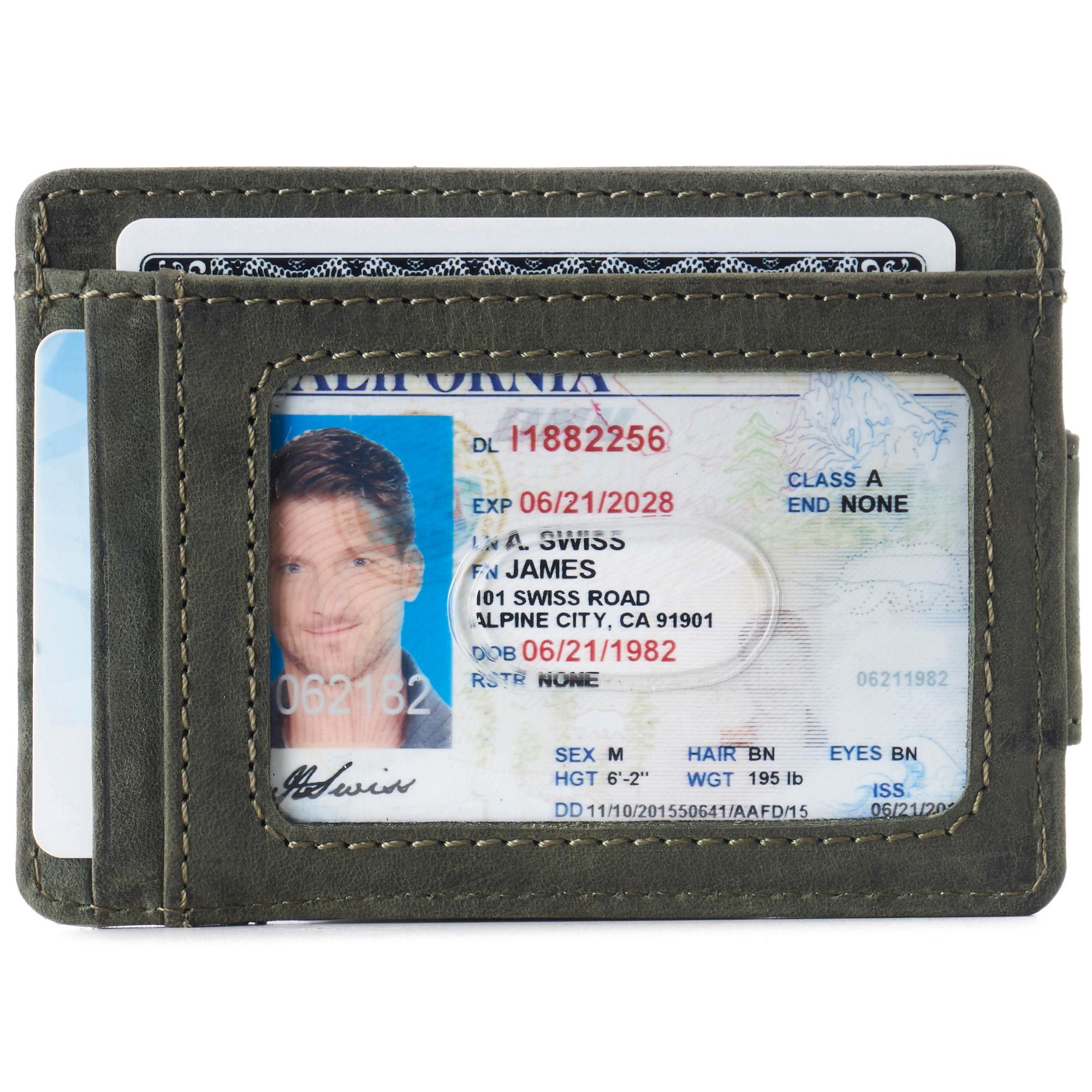 thumbnail 44 - Alpine Swiss Mens RFID Safe Slim Magnetic Money Clip Leather Front Pocket Wallet