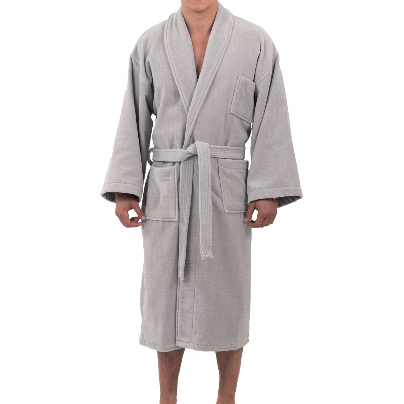Alpine Swiss Aiden Mens Cotton Terry Cloth Bathrobe Shawl Collar Velour Spa  Robe b96a6ab1b