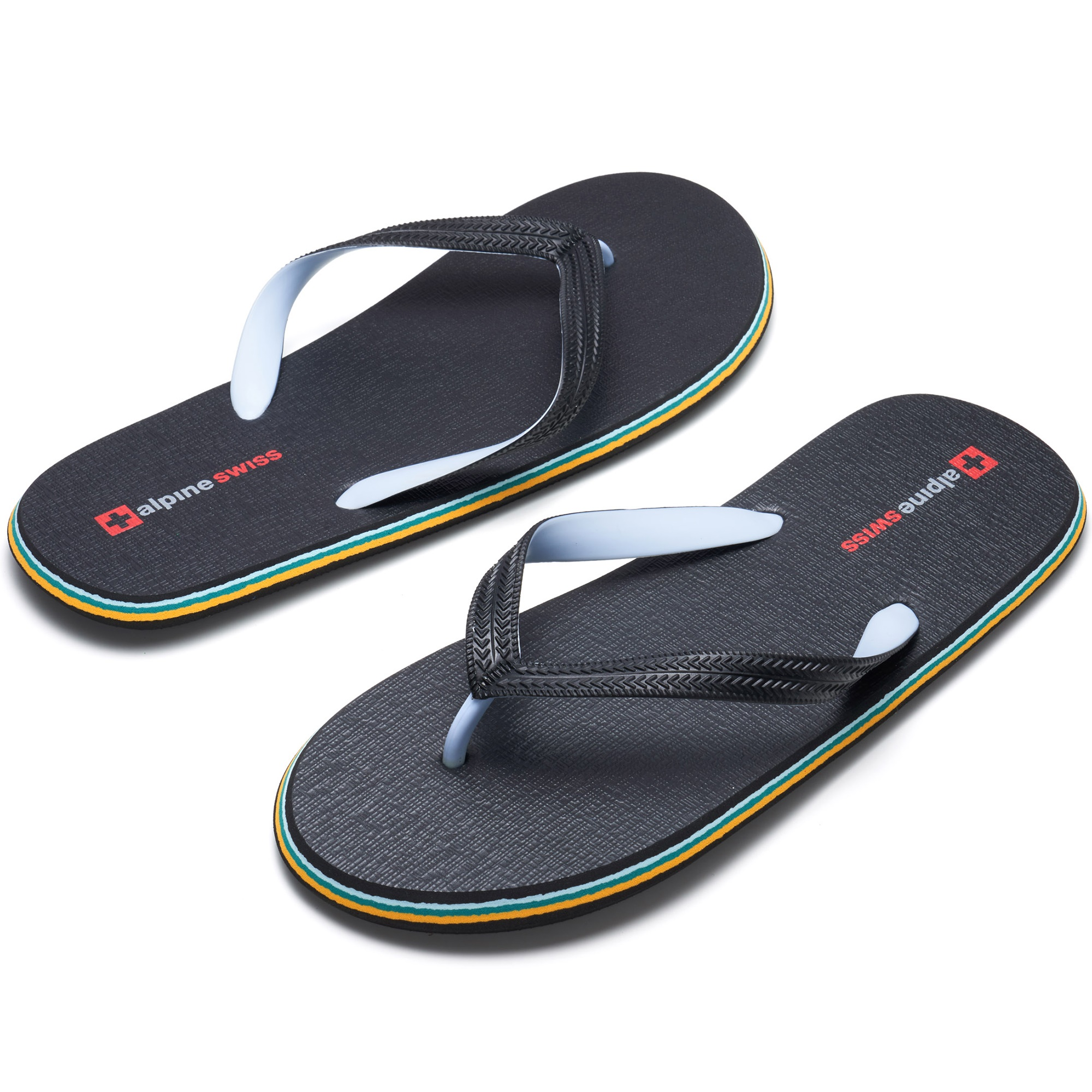 Alpine-Swiss-Mens-Flip-Flops-Beach-Sandals-Lightweight-EVA-Sole-Comfort-Thongs thumbnail 20