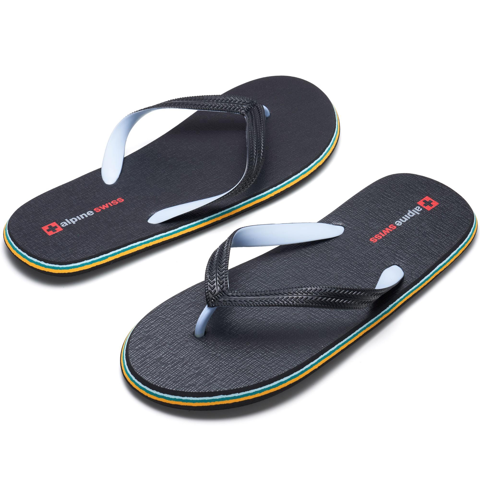 Alpine-Swiss-Mens-Flip-Flops-Beach-Sandals-Lightweight-EVA-Sole-Comfort-Thongs thumbnail 20