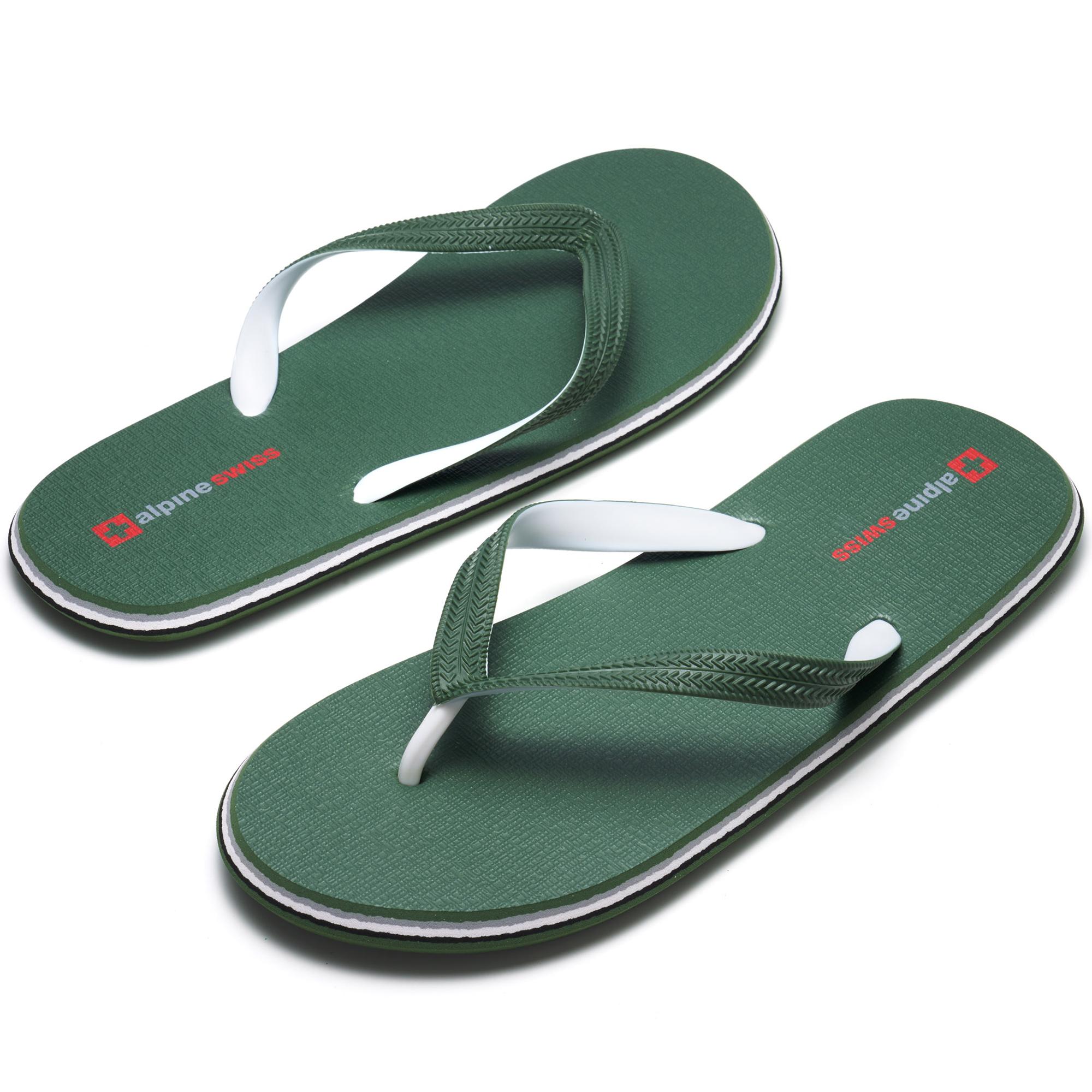 Alpine-Swiss-Mens-Flip-Flops-Beach-Sandals-Lightweight-EVA-Sole-Comfort-Thongs thumbnail 30