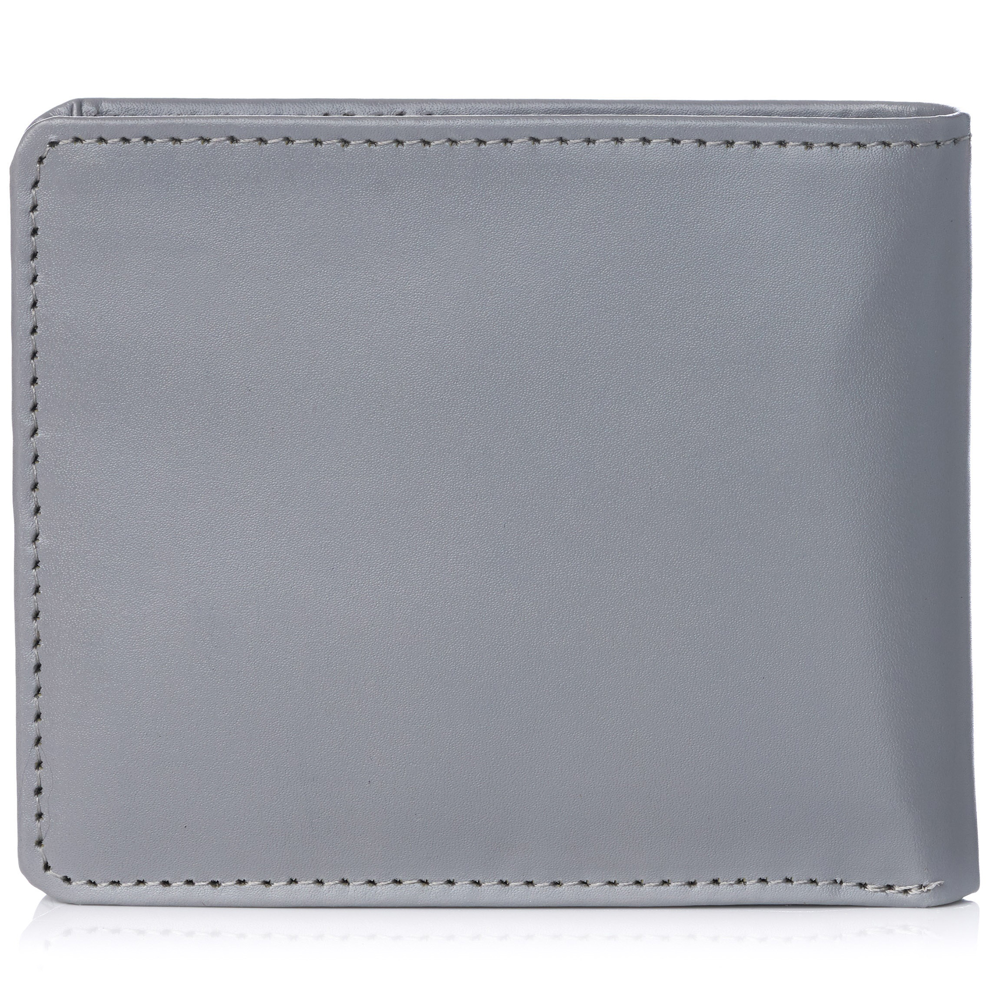 miniature 81 - Alpine-Swiss-RFID-Mens-Wallet-Deluxe-Capacity-Passcase-Bifold-Two-Bill-Sections