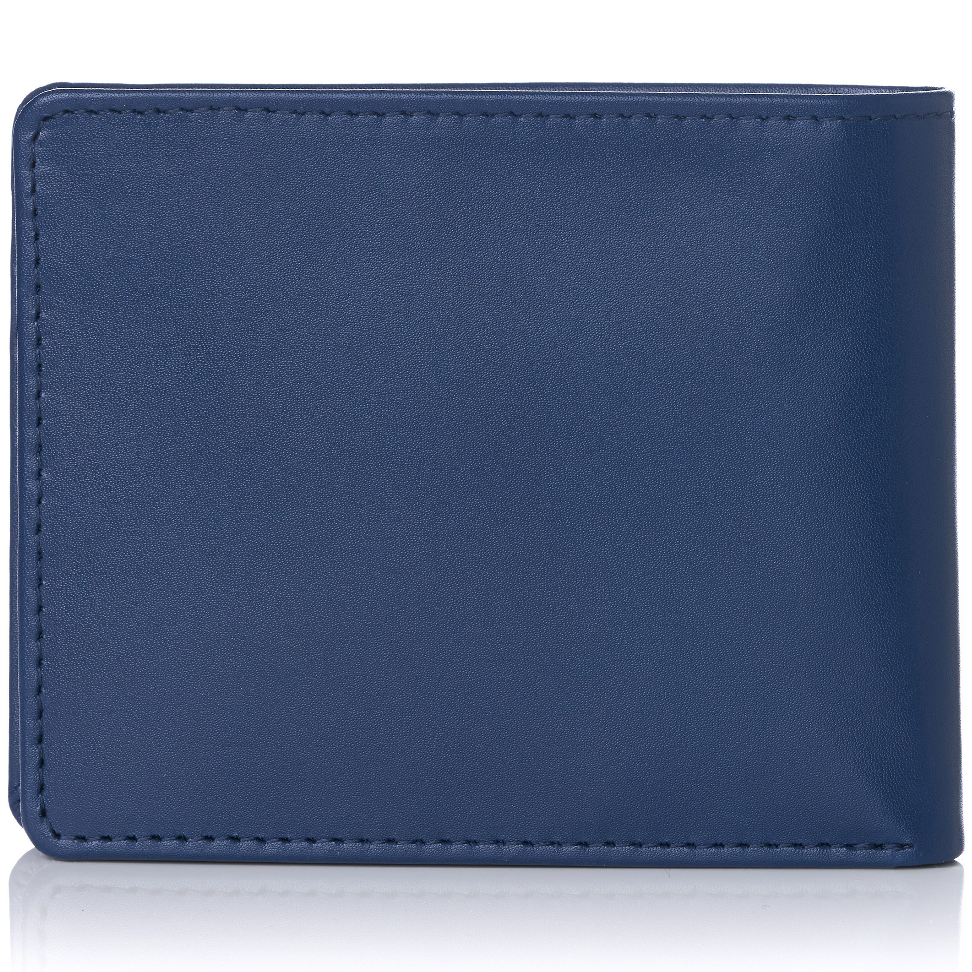 miniature 65 - Alpine-Swiss-RFID-Mens-Wallet-Deluxe-Capacity-Passcase-Bifold-Two-Bill-Sections