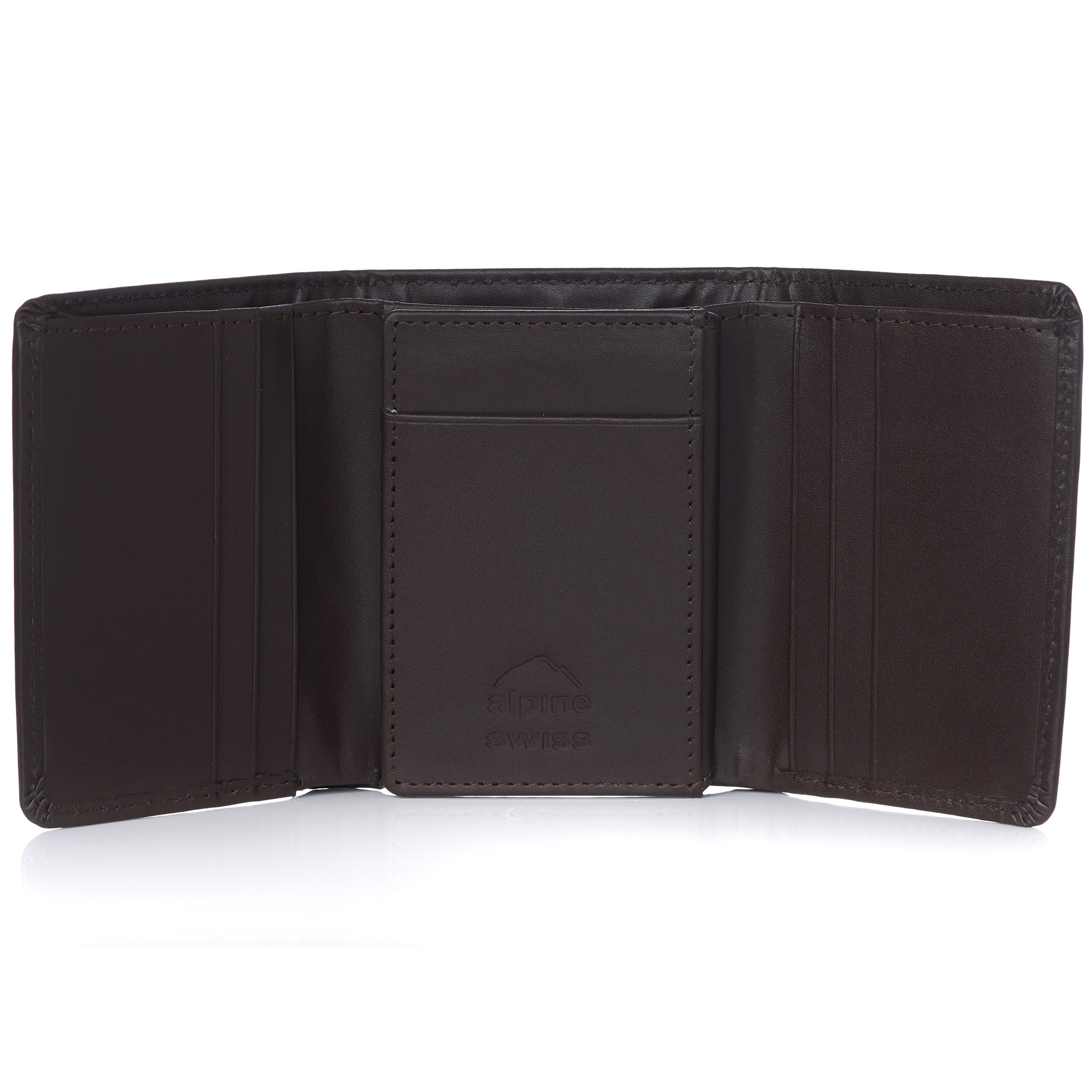Alpine-Swiss-RFID-Mens-Wallet-Deluxe-Capacity-Trifold-With-Divided-Bill-Section thumbnail 60