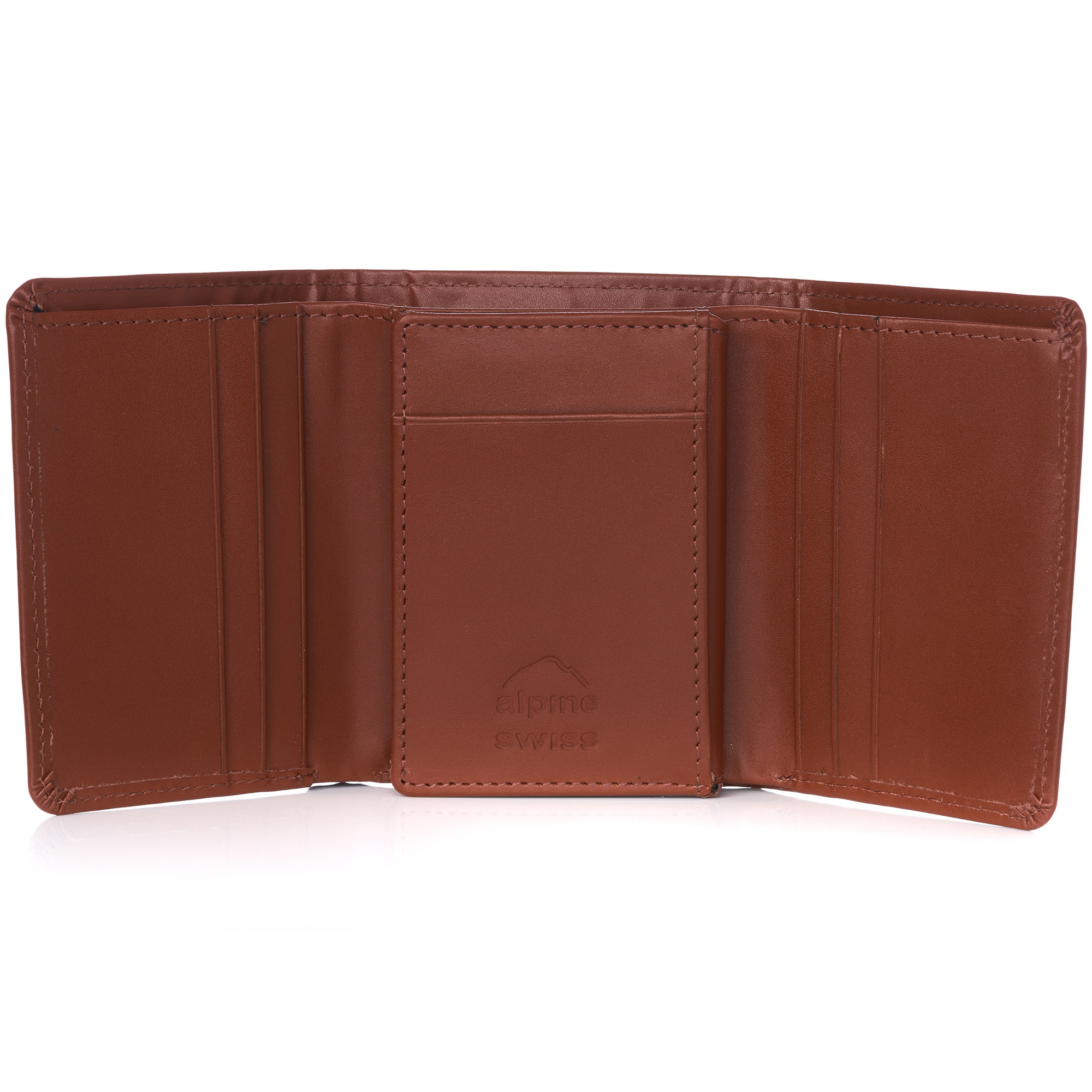 Alpine-Swiss-RFID-Mens-Wallet-Deluxe-Capacity-Trifold-With-Divided-Bill-Section thumbnail 80