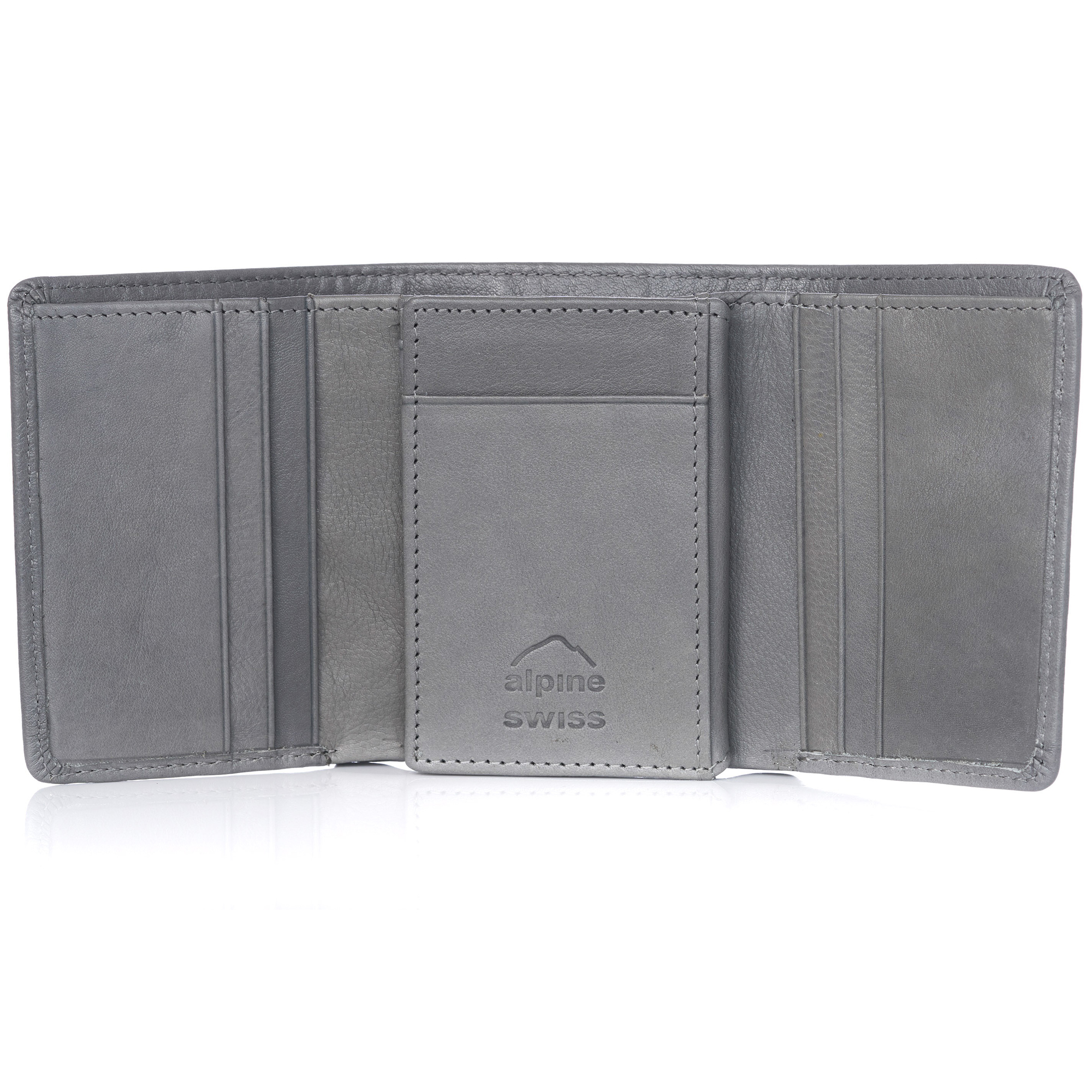 Alpine-Swiss-RFID-Mens-Wallet-Deluxe-Capacity-Trifold-With-Divided-Bill-Section thumbnail 104