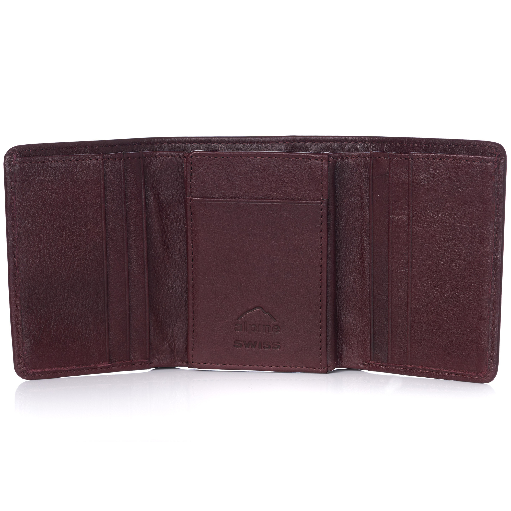 Alpine-Swiss-RFID-Mens-Wallet-Deluxe-Capacity-Trifold-With-Divided-Bill-Section thumbnail 99