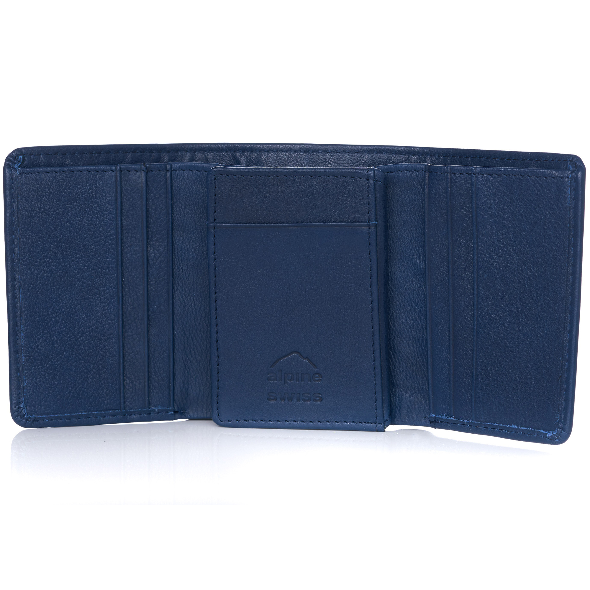 Alpine-Swiss-RFID-Mens-Wallet-Deluxe-Capacity-Trifold-With-Divided-Bill-Section thumbnail 90