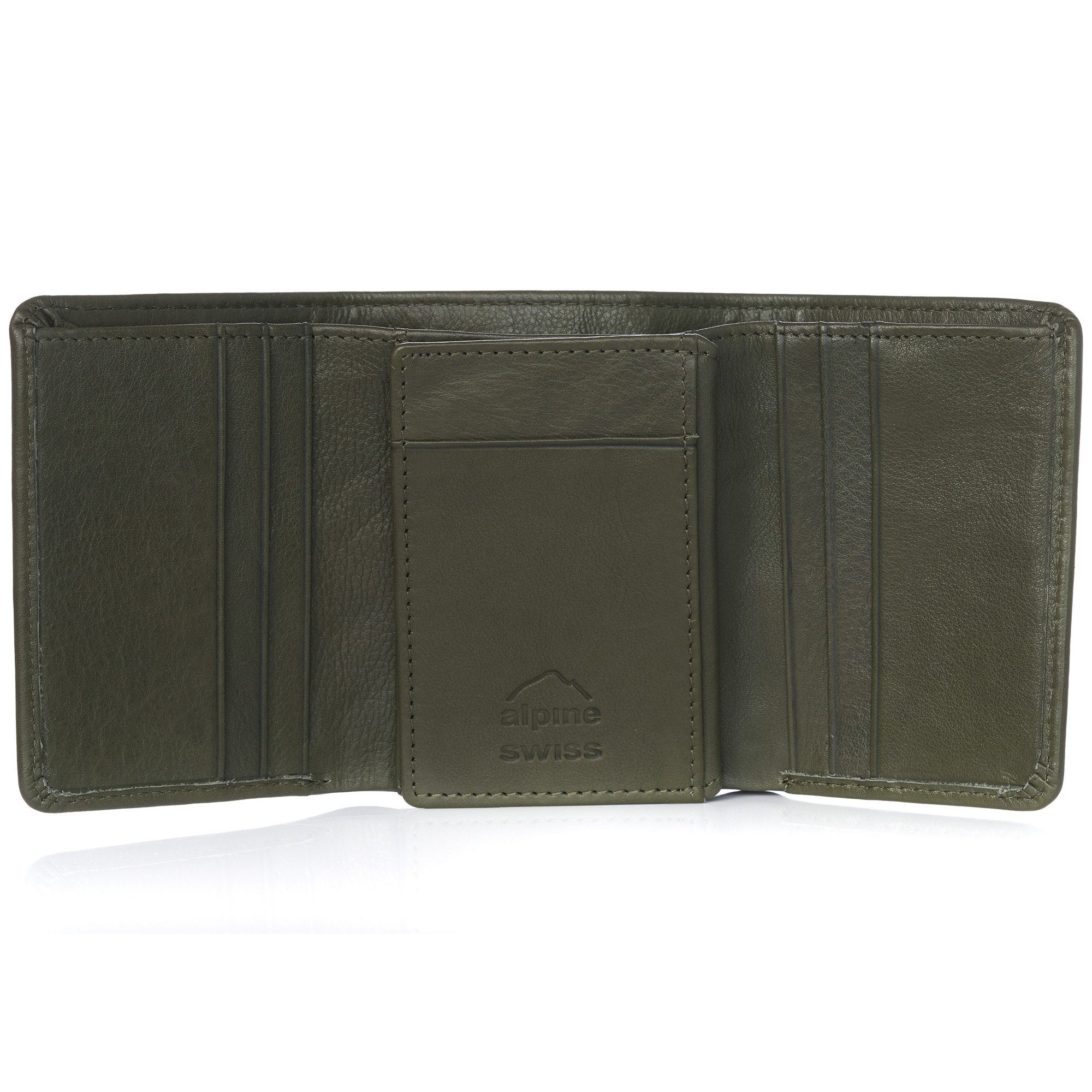 Alpine-Swiss-RFID-Mens-Wallet-Deluxe-Capacity-Trifold-With-Divided-Bill-Section thumbnail 109