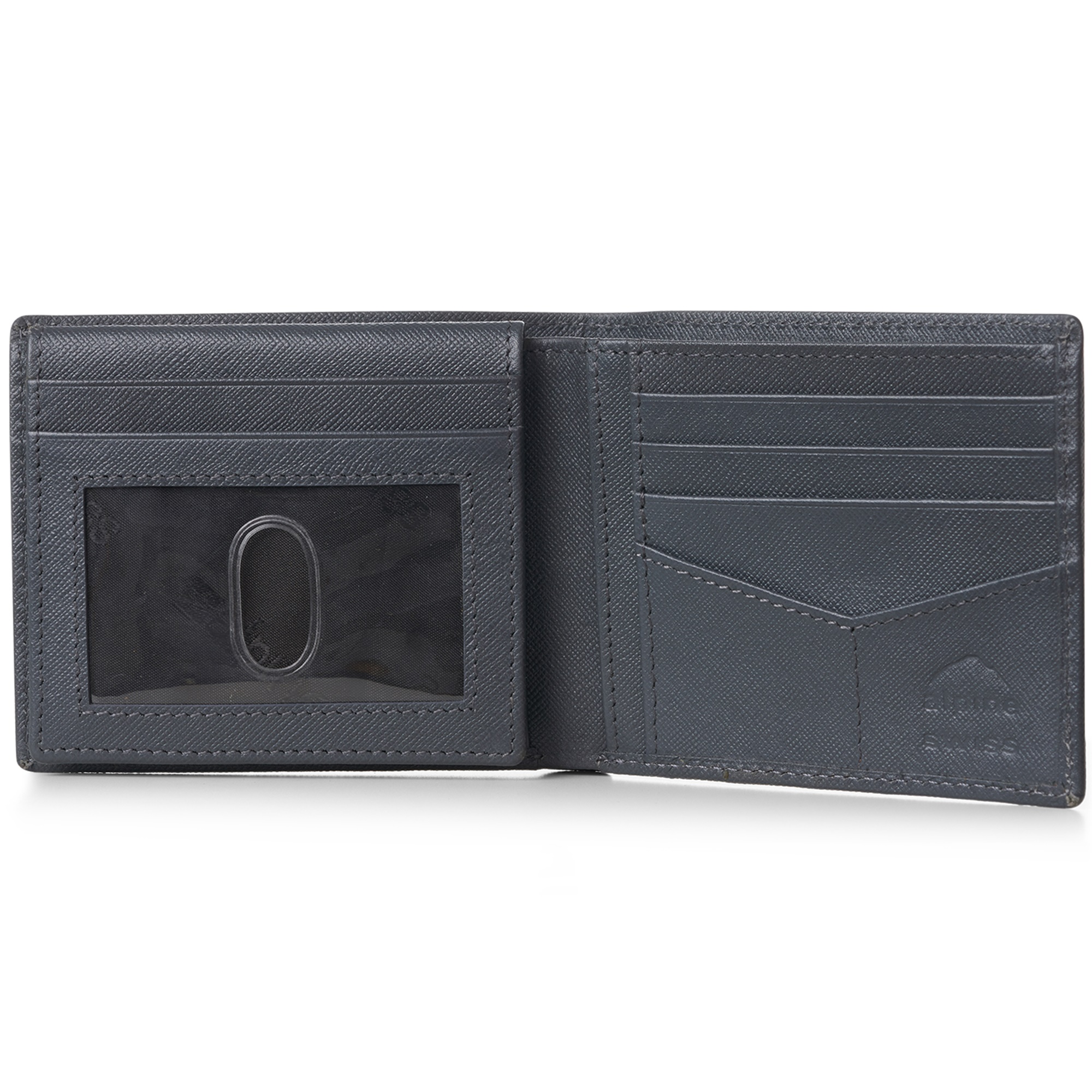 miniature 56 - Alpine-Swiss-RFID-Mens-Wallet-Deluxe-Capacity-Passcase-Bifold-Two-Bill-Sections