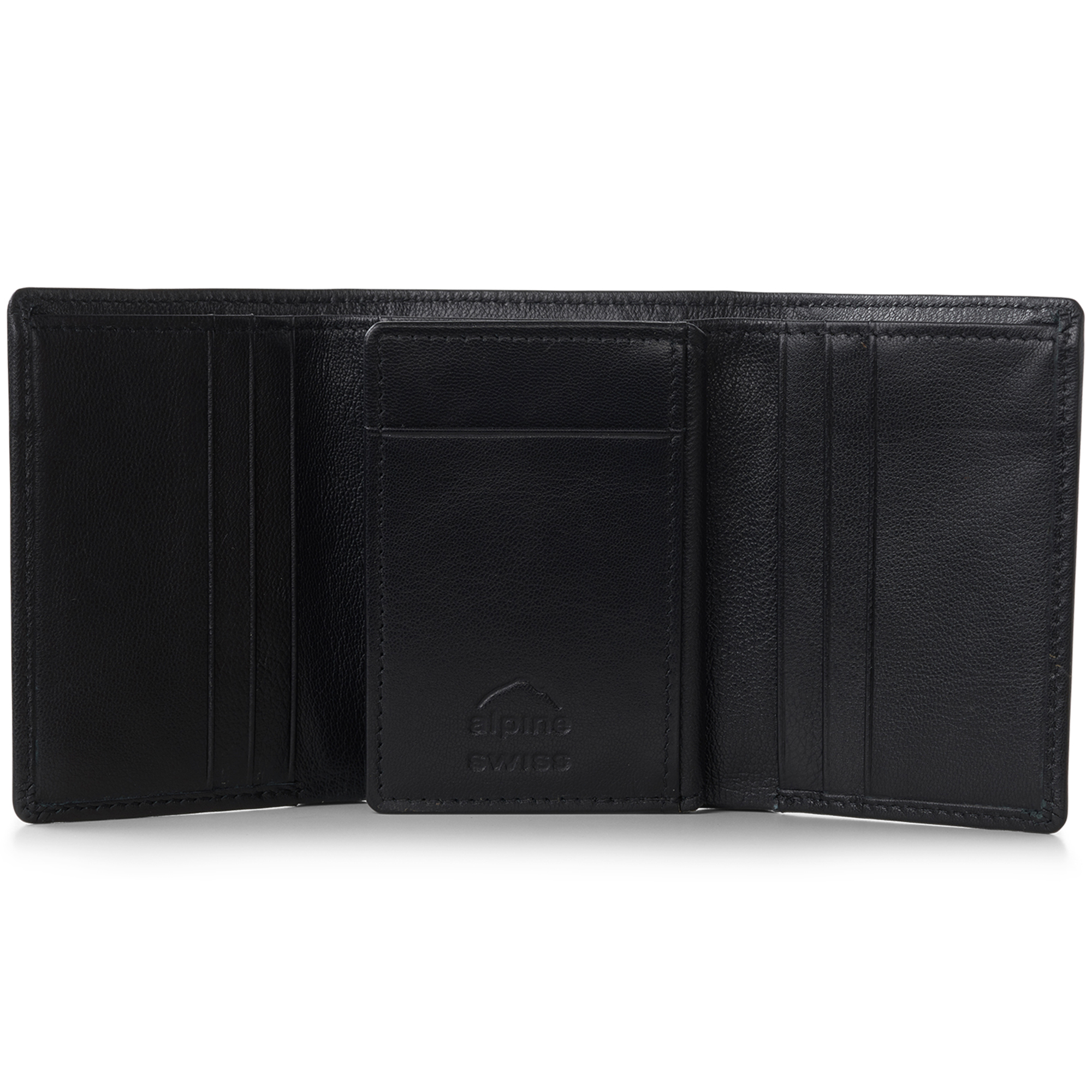 Alpine-Swiss-RFID-Mens-Wallet-Deluxe-Capacity-Trifold-With-Divided-Bill-Section thumbnail 14