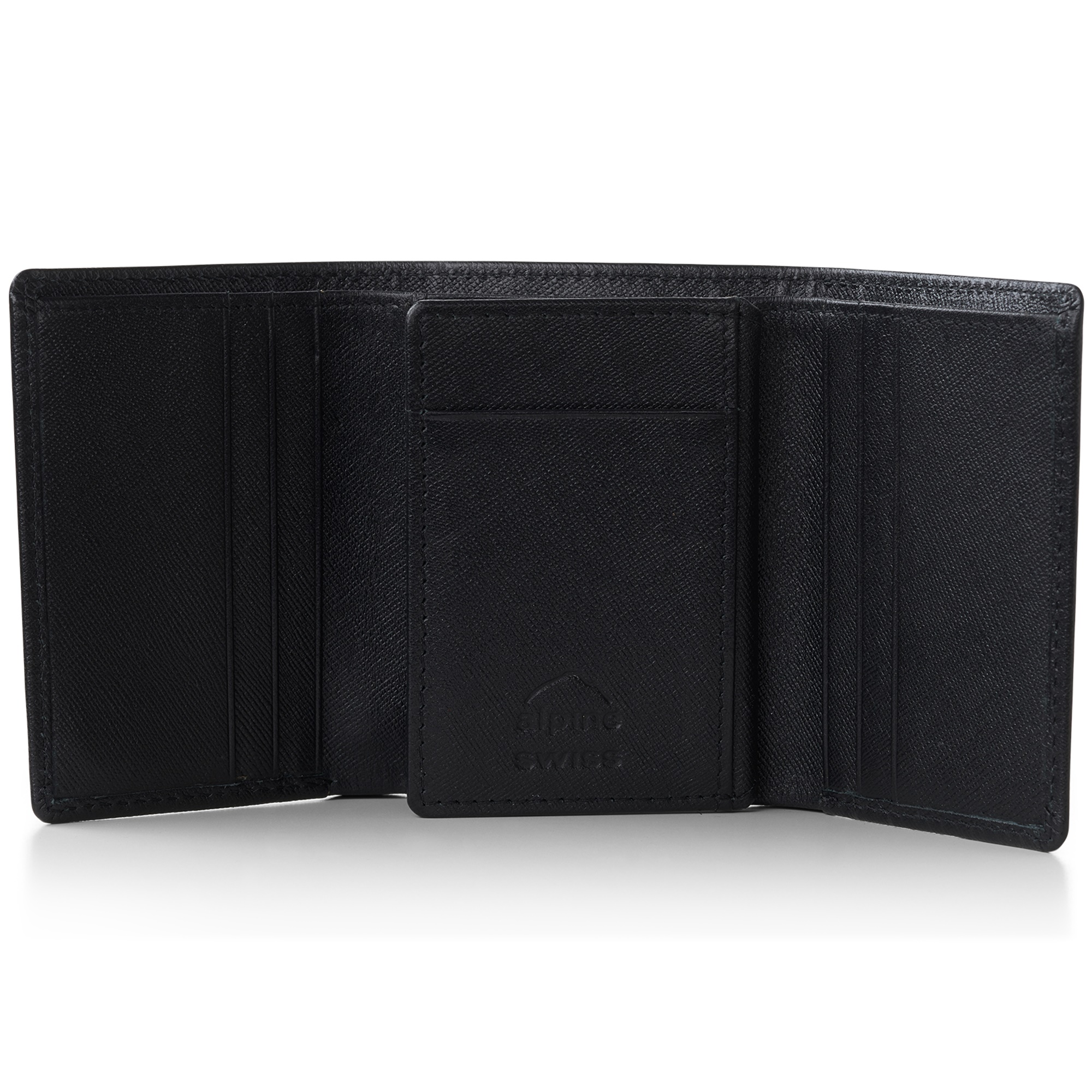 Alpine-Swiss-RFID-Mens-Wallet-Deluxe-Capacity-Trifold-With-Divided-Bill-Section thumbnail 41