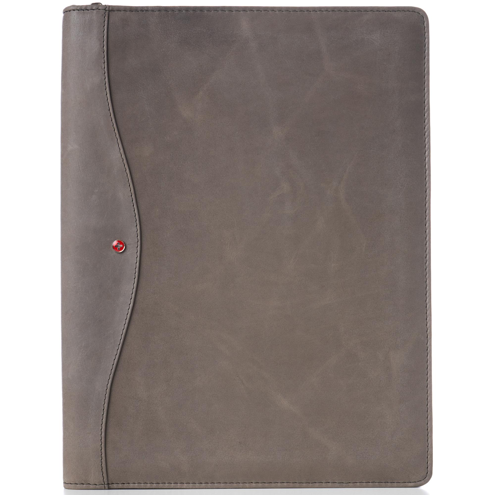 thumbnail 36 - Alpine Swiss Leather Zippered Writing Pad Portfolio Business Briefcase Organizer