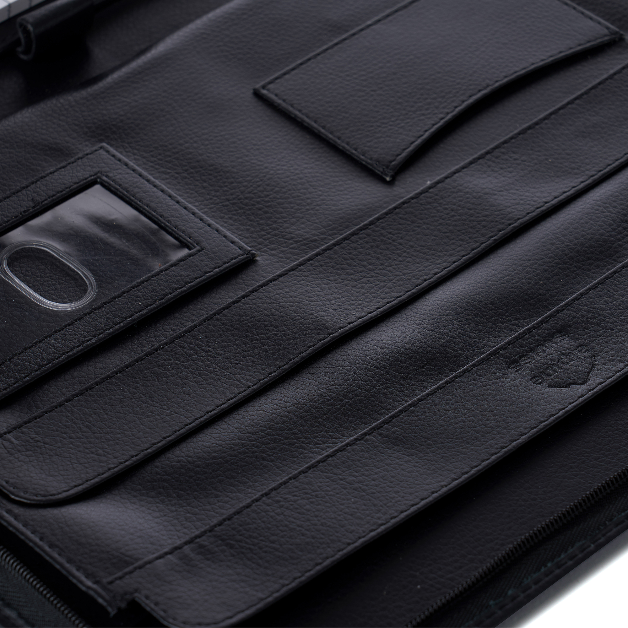 thumbnail 19 - Alpine Swiss Leather Zippered Writing Pad Portfolio Business Briefcase Organizer