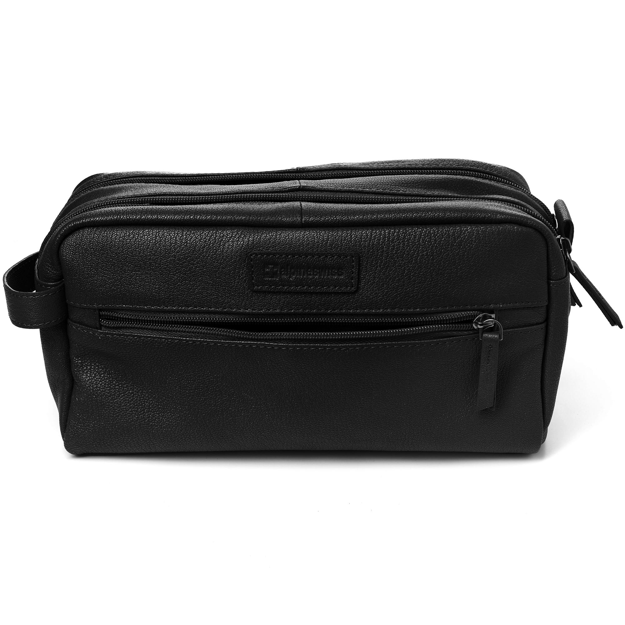 AlpineSwiss-Sedona-Toiletry-Bag-Genuine-Leather-Shaving-Kit-Dopp-Kit-Travel-Case thumbnail 16