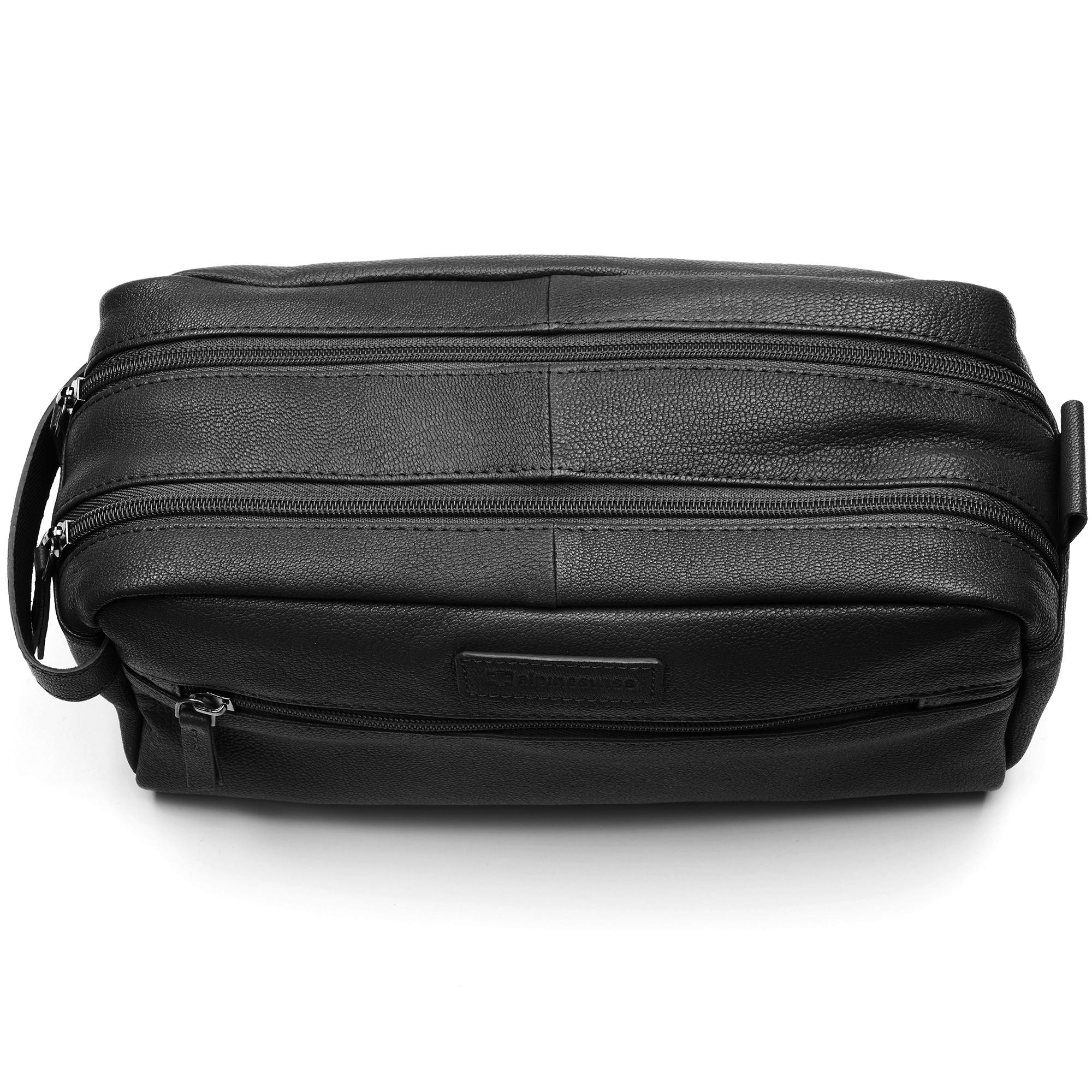 AlpineSwiss-Sedona-Toiletry-Bag-Genuine-Leather-Shaving-Kit-Dopp-Kit-Travel-Case thumbnail 14