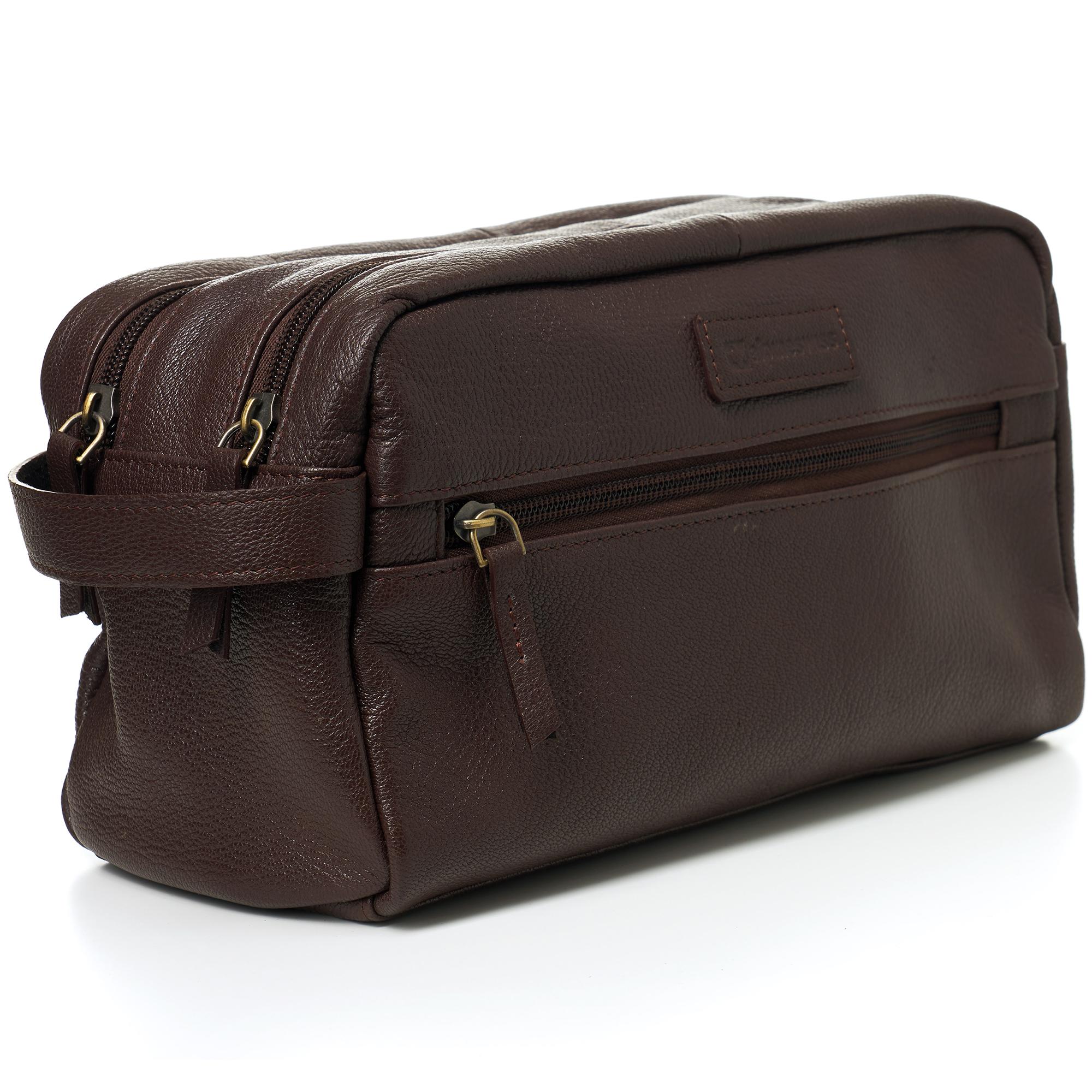 AlpineSwiss-Sedona-Toiletry-Bag-Genuine-Leather-Shaving-Kit-Dopp-Kit-Travel-Case thumbnail 20