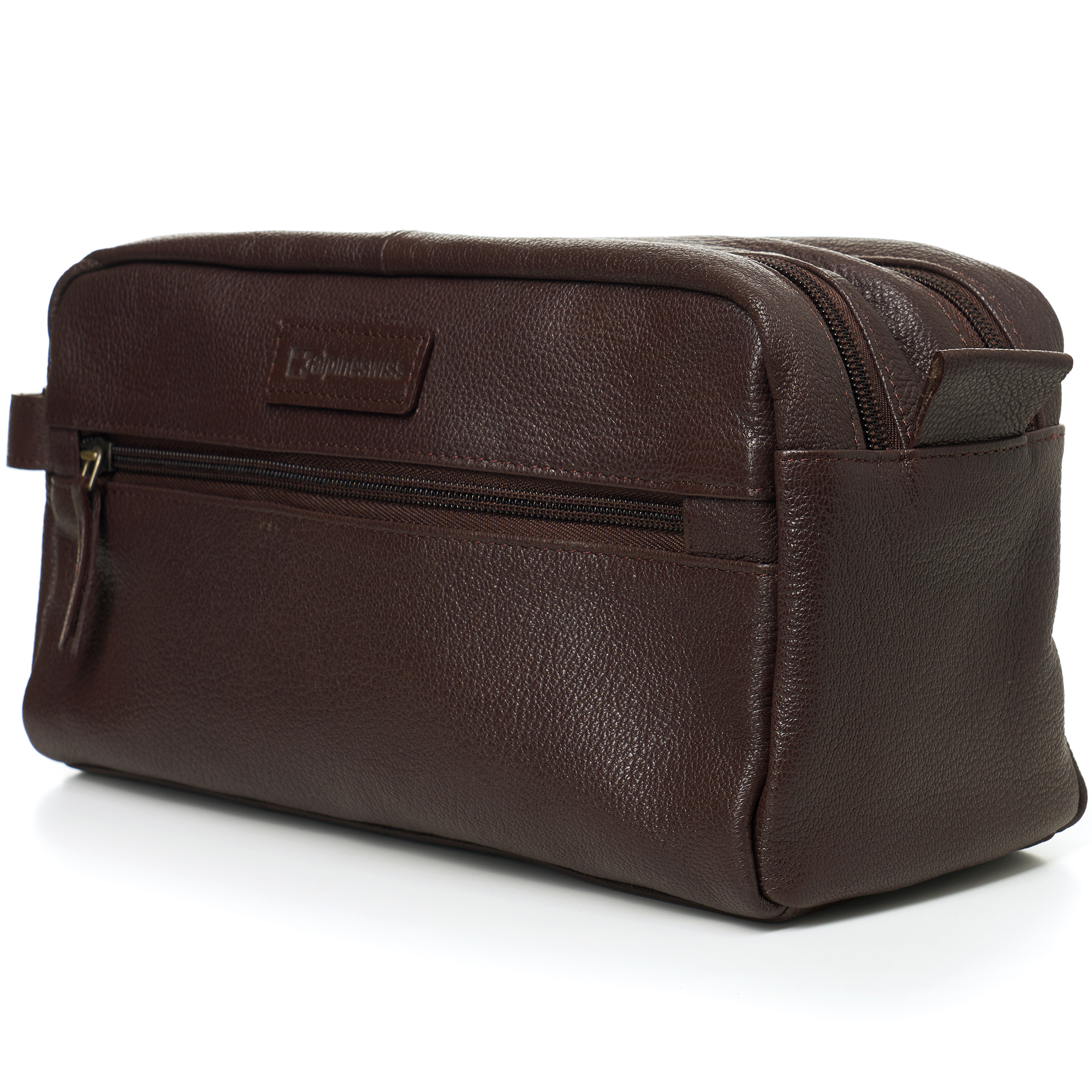 AlpineSwiss-Sedona-Toiletry-Bag-Genuine-Leather-Shaving-Kit-Dopp-Kit-Travel-Case thumbnail 22