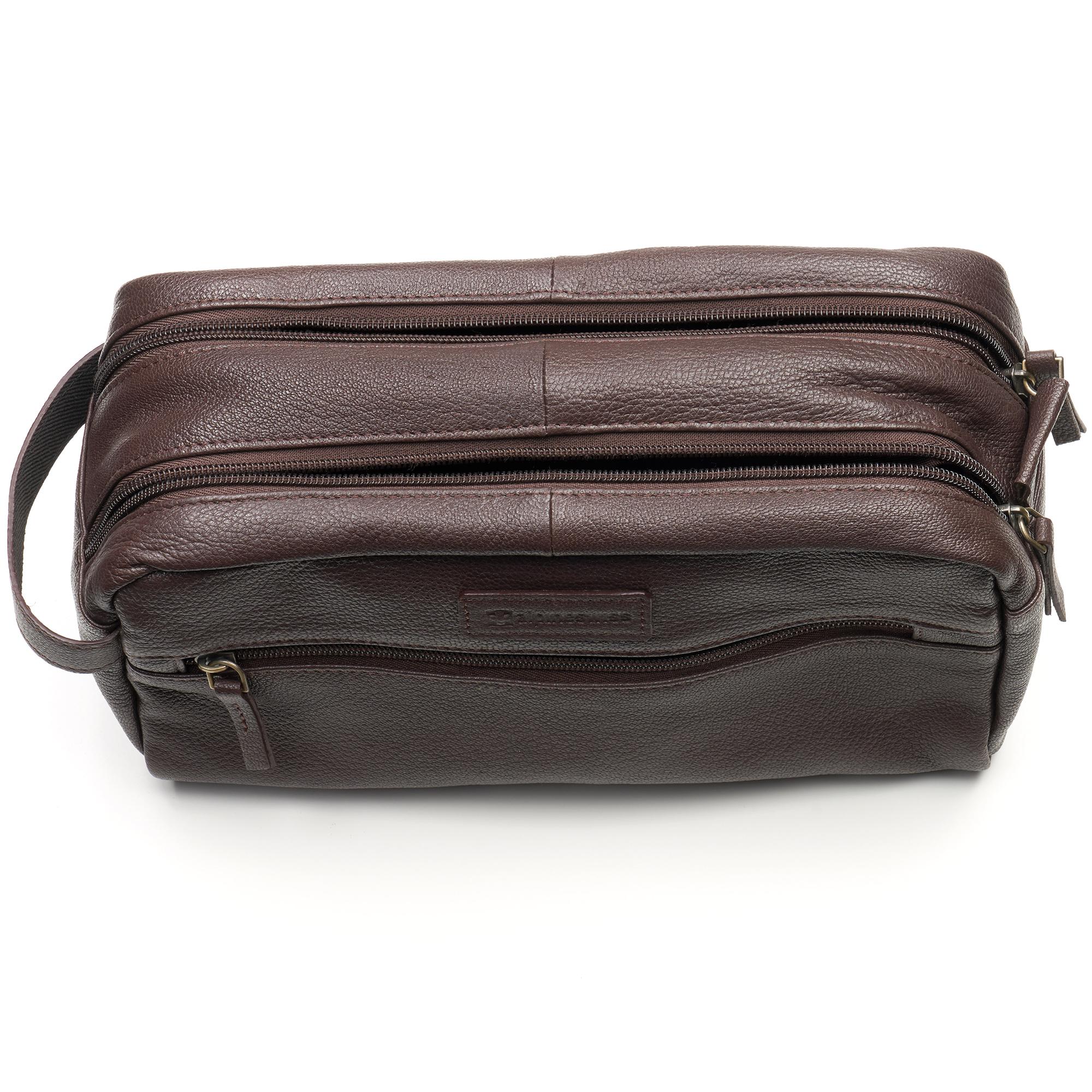AlpineSwiss-Sedona-Toiletry-Bag-Genuine-Leather-Shaving-Kit-Dopp-Kit-Travel-Case thumbnail 24