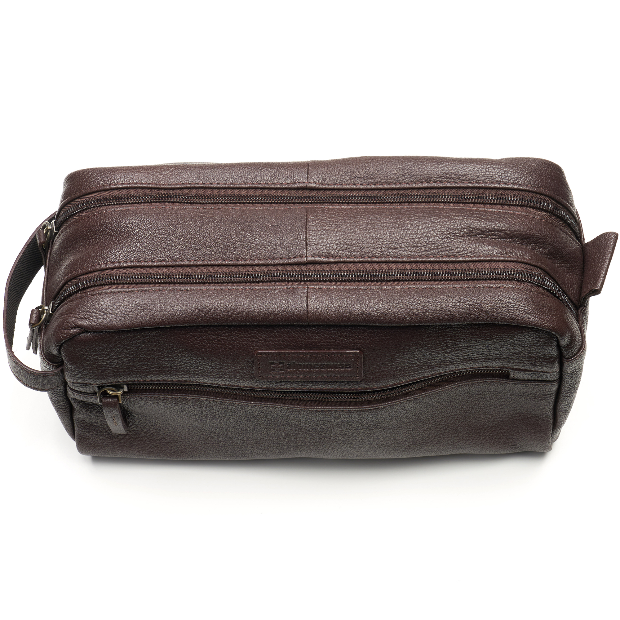 AlpineSwiss-Sedona-Toiletry-Bag-Genuine-Leather-Shaving-Kit-Dopp-Kit-Travel-Case thumbnail 21