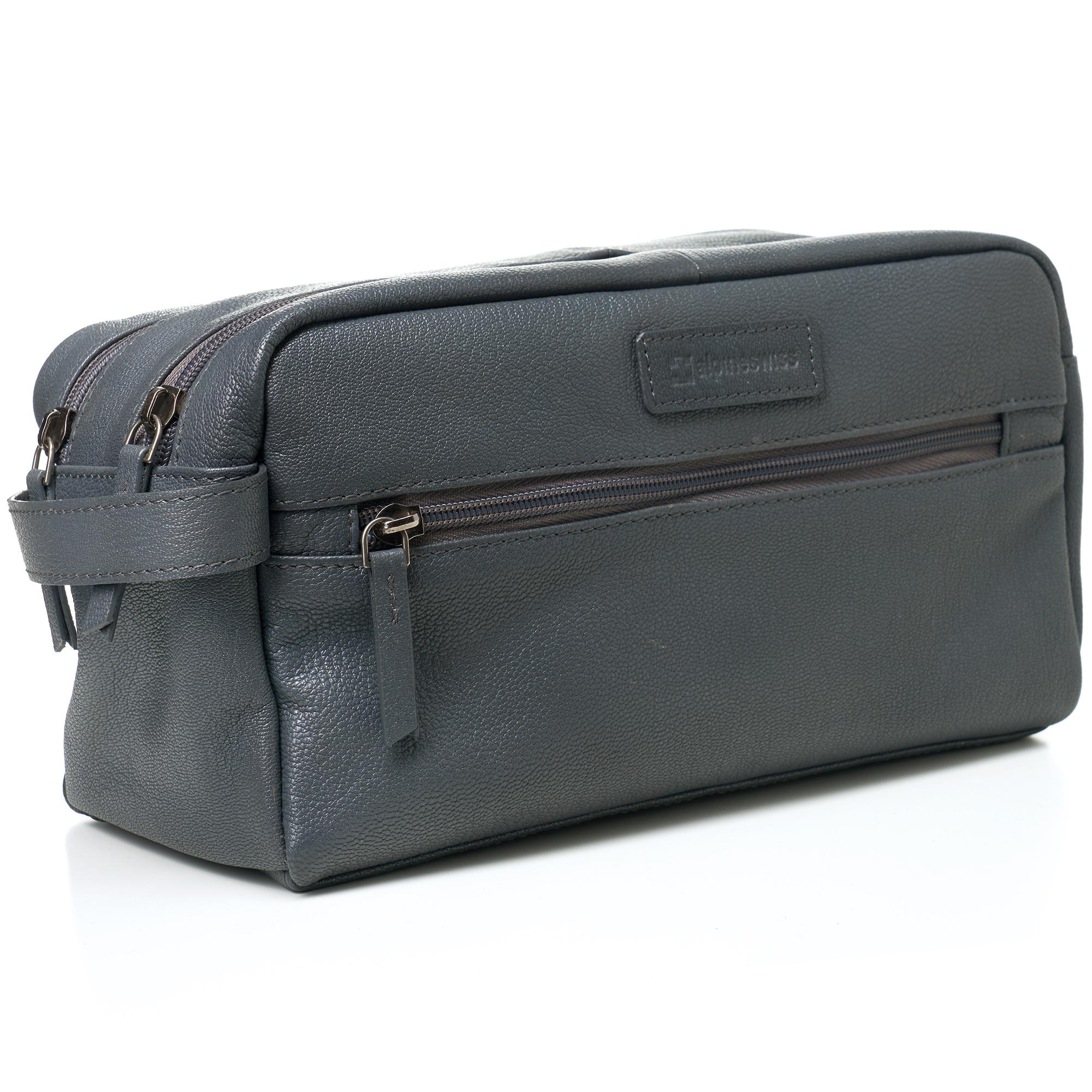 AlpineSwiss-Sedona-Toiletry-Bag-Genuine-Leather-Shaving-Kit-Dopp-Kit-Travel-Case thumbnail 26