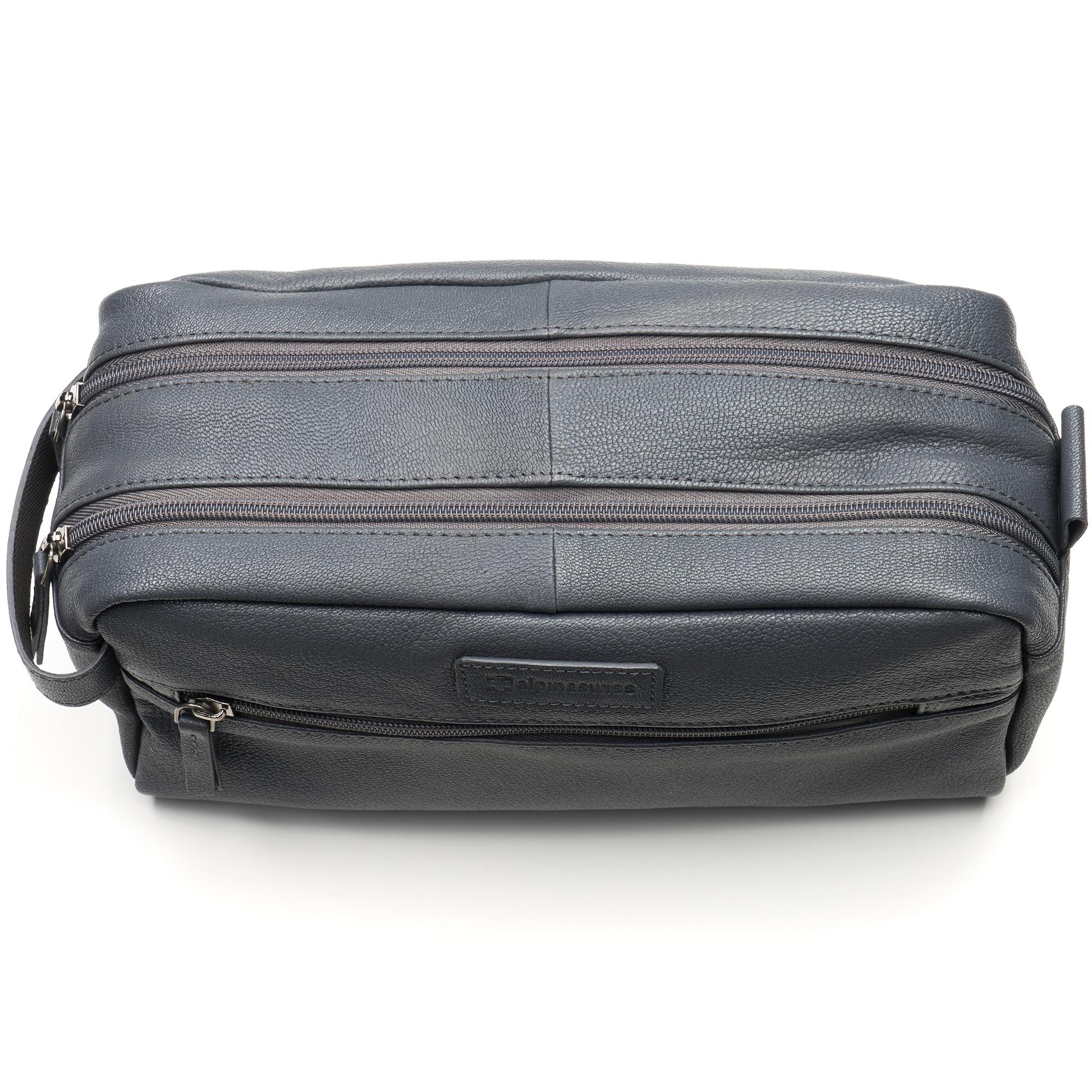 AlpineSwiss-Sedona-Toiletry-Bag-Genuine-Leather-Shaving-Kit-Dopp-Kit-Travel-Case thumbnail 27