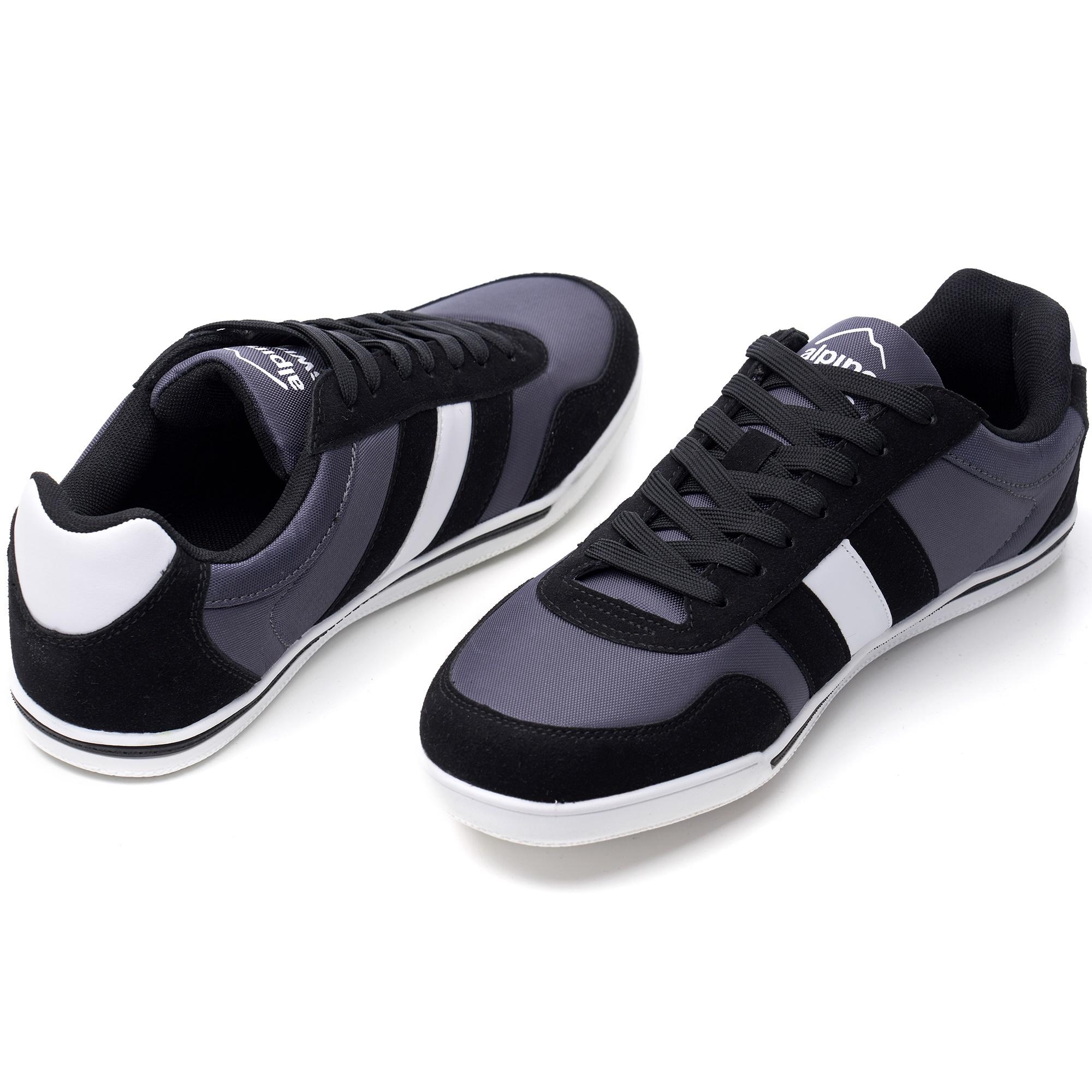 Alpine-Swiss-Haris-Mens-Retro-Striped-Athletic-Shoes-Fashion-Sneaker-Tennis-Shoe thumbnail 7