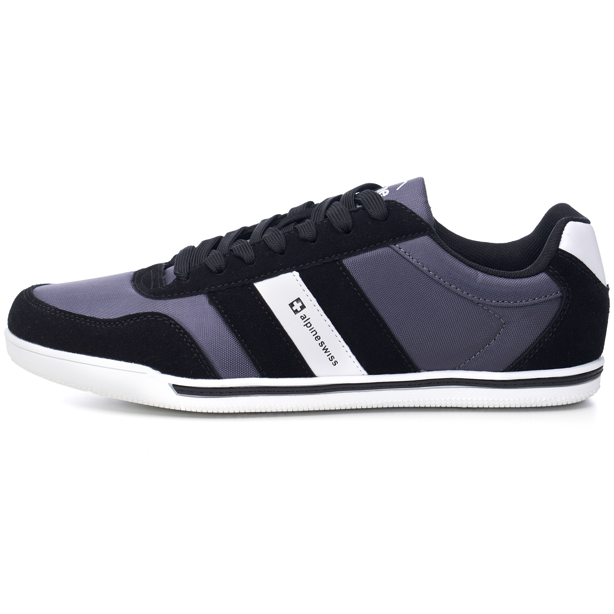 Alpine-Swiss-Haris-Mens-Retro-Striped-Athletic-Shoes-Fashion-Sneaker-Tennis-Shoe thumbnail 5