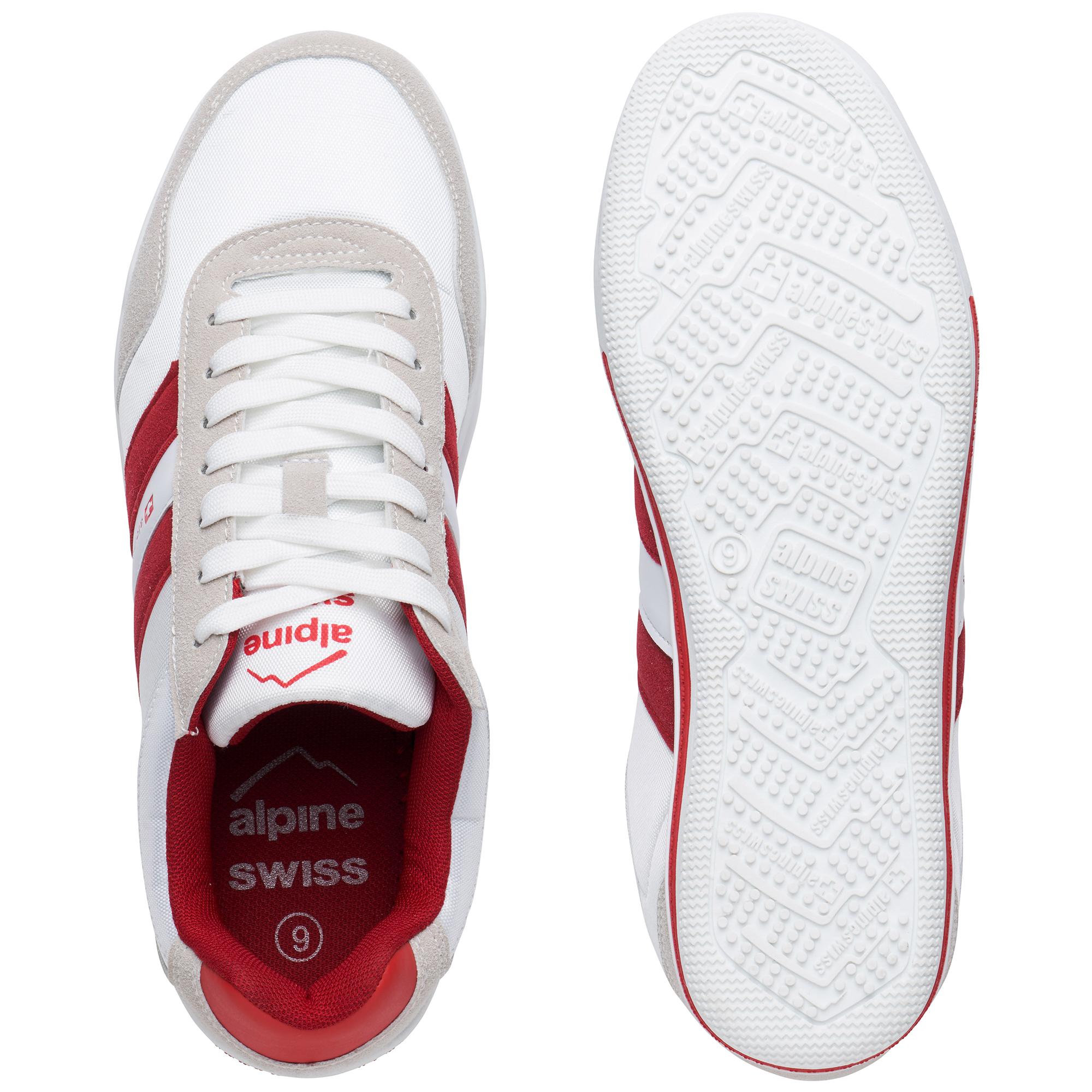 Alpine-Swiss-Haris-Mens-Retro-Striped-Athletic-Shoes-Fashion-Sneaker-Tennis-Shoe thumbnail 16