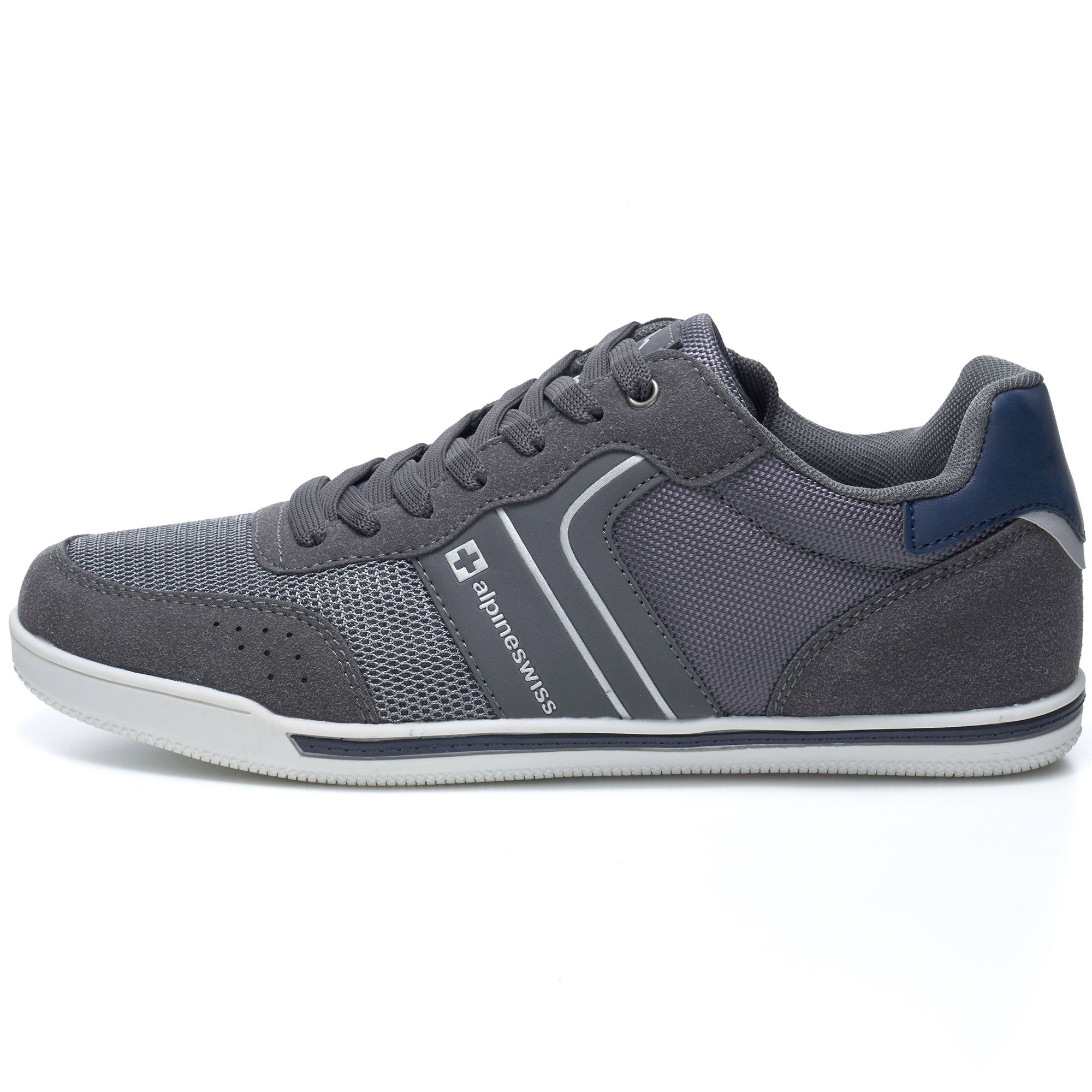 Alpine-Swiss-Liam-Mens-Fashion-Sneakers-Suede-Trim-Low-Top-Lace-Up-Tennis-Shoes thumbnail 23