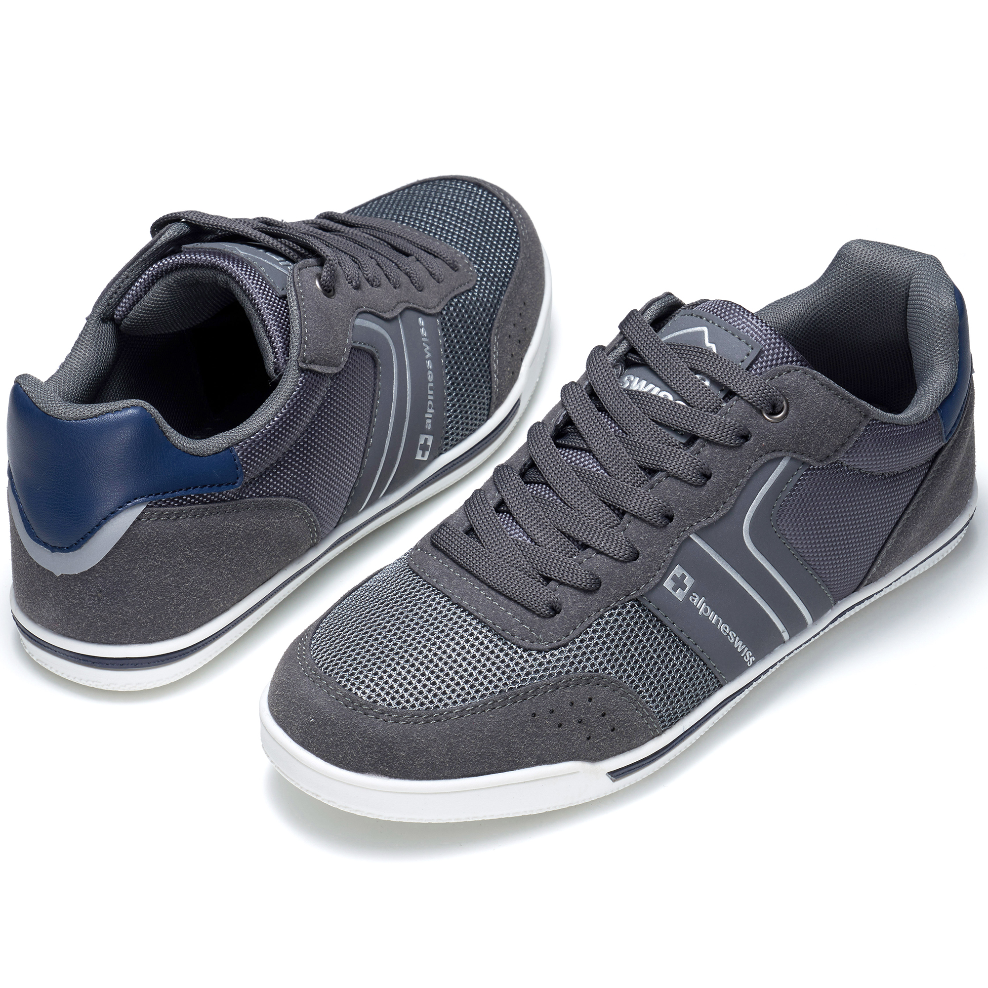 Alpine-Swiss-Liam-Mens-Fashion-Sneakers-Suede-Trim-Low-Top-Lace-Up-Tennis-Shoes thumbnail 24