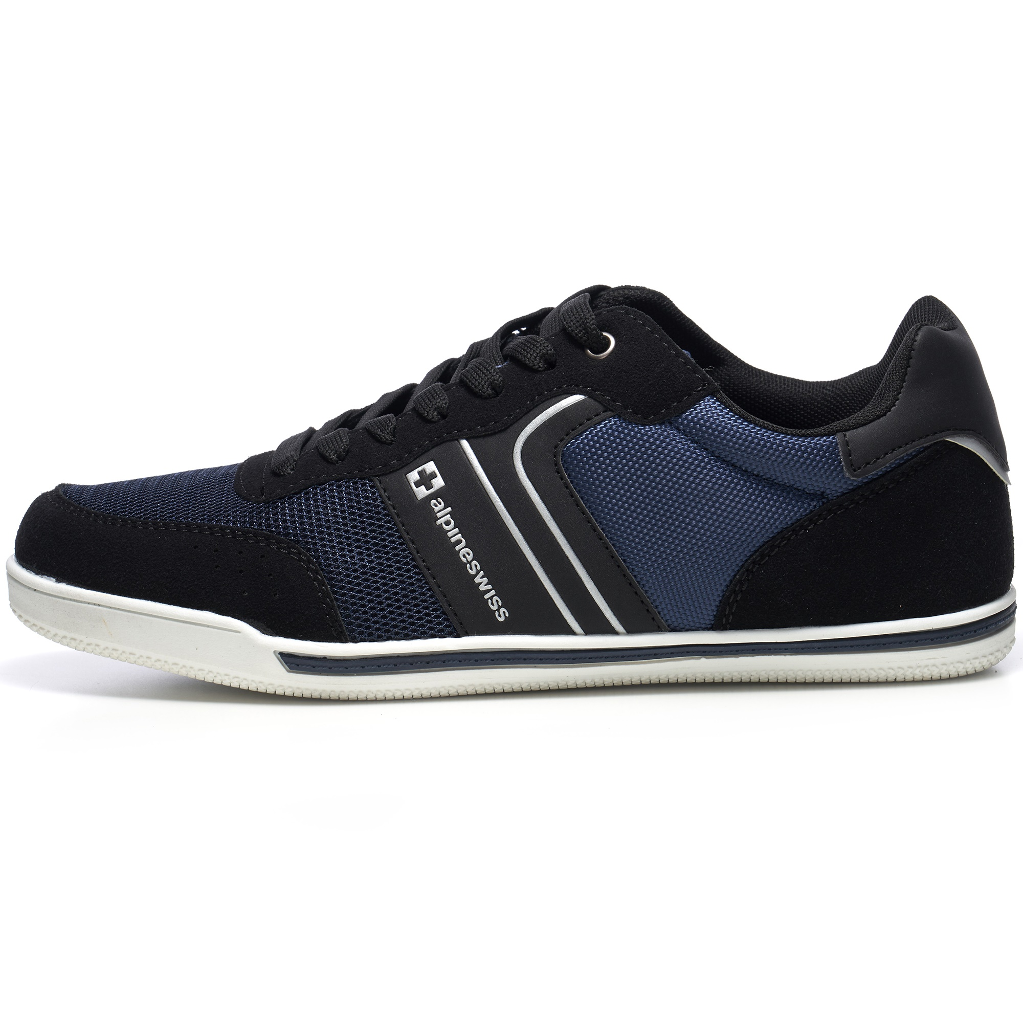 Alpine-Swiss-Liam-Mens-Fashion-Sneakers-Suede-Trim-Low-Top-Lace-Up-Tennis-Shoes thumbnail 32