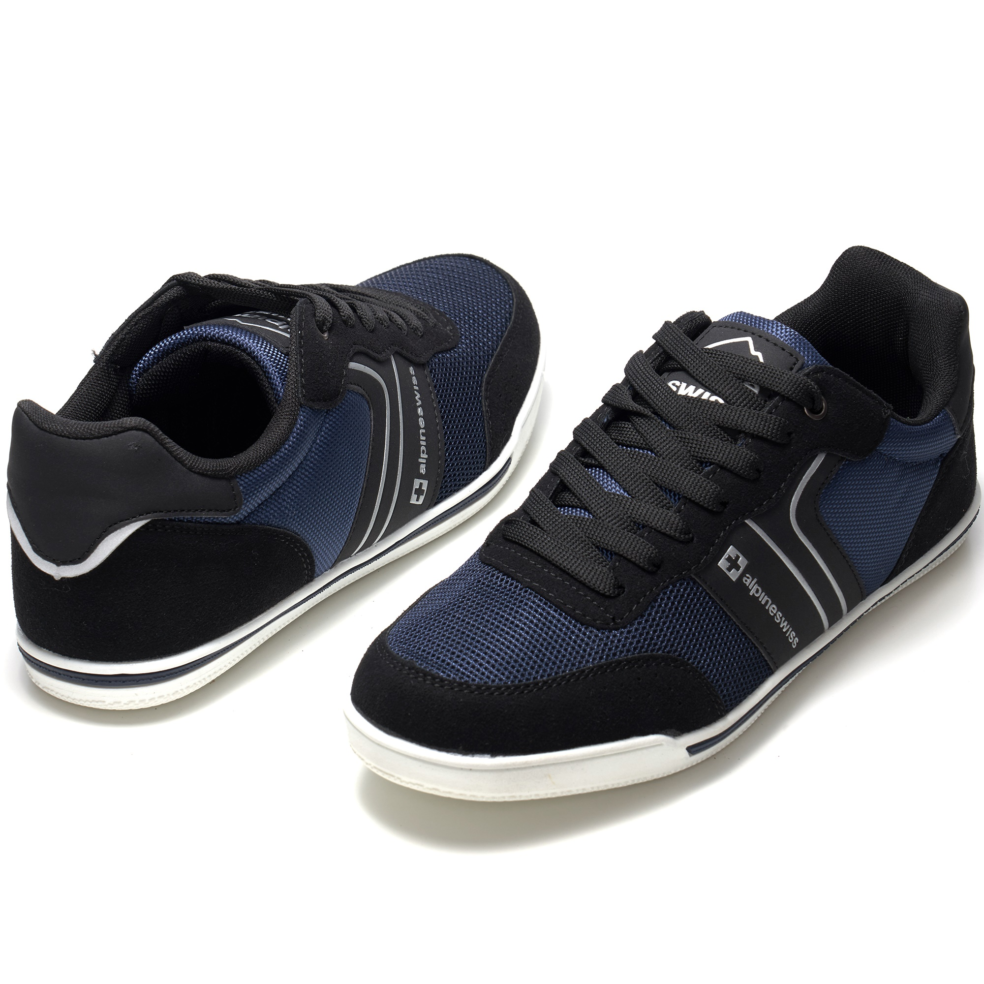 Alpine-Swiss-Liam-Mens-Fashion-Sneakers-Suede-Trim-Low-Top-Lace-Up-Tennis-Shoes thumbnail 33