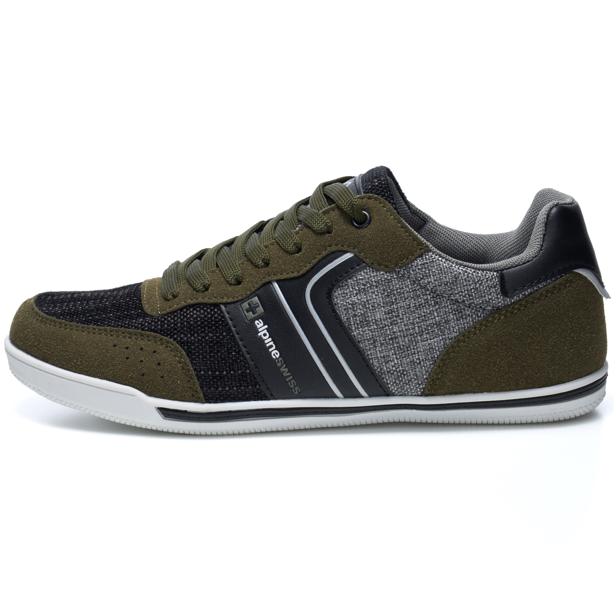 Alpine-Swiss-Liam-Mens-Fashion-Sneakers-Suede-Trim-Low-Top-Lace-Up-Tennis-Shoes thumbnail 41