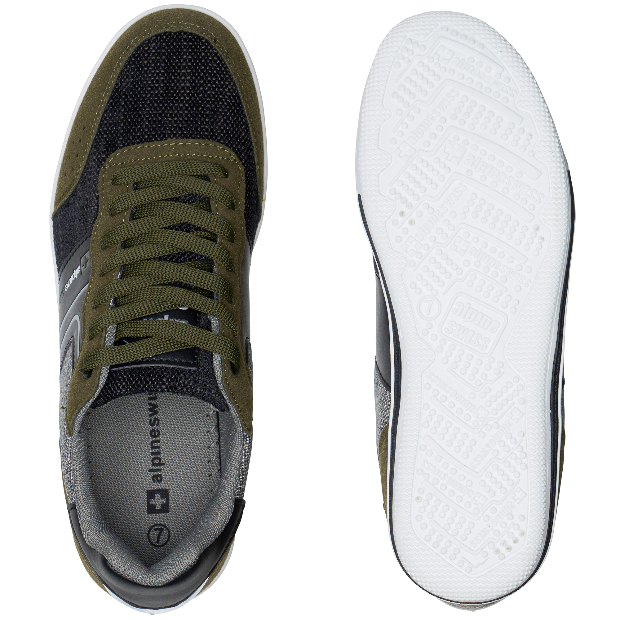 Alpine-Swiss-Liam-Mens-Fashion-Sneakers-Suede-Trim-Low-Top-Lace-Up-Tennis-Shoes thumbnail 44