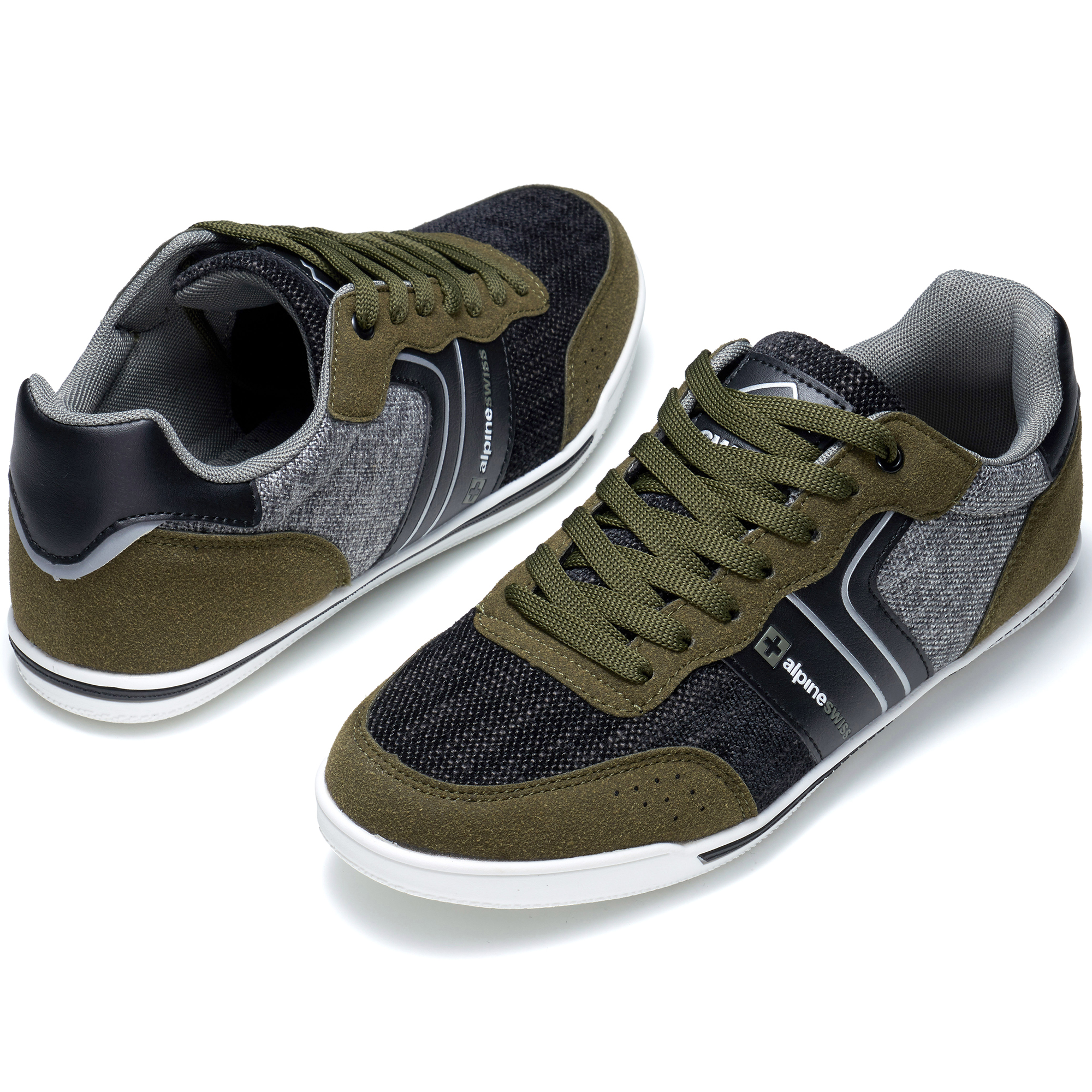 Alpine-Swiss-Liam-Mens-Fashion-Sneakers-Suede-Trim-Low-Top-Lace-Up-Tennis-Shoes thumbnail 42