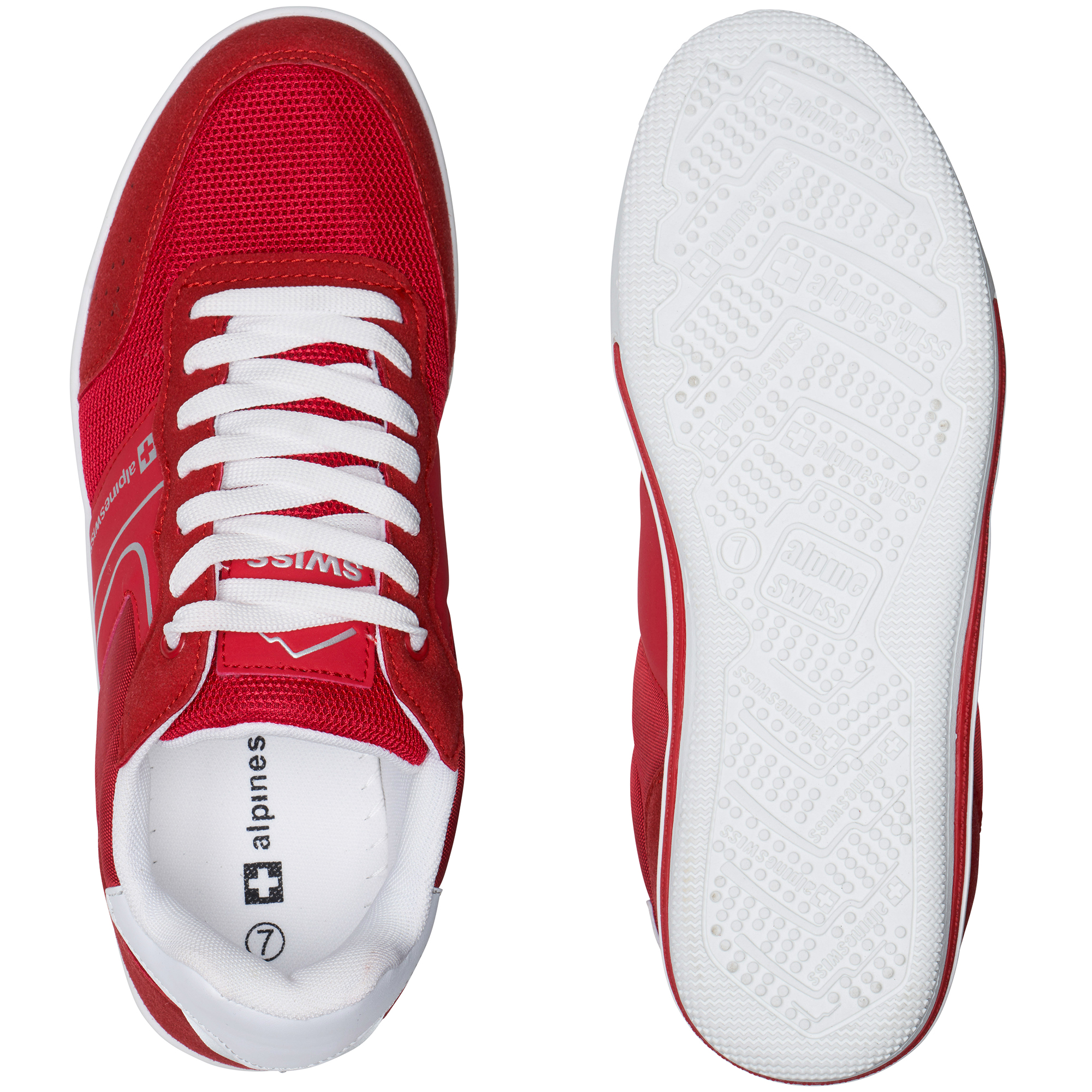 Alpine-Swiss-Liam-Mens-Fashion-Sneakers-Suede-Trim-Low-Top-Lace-Up-Tennis-Shoes thumbnail 53