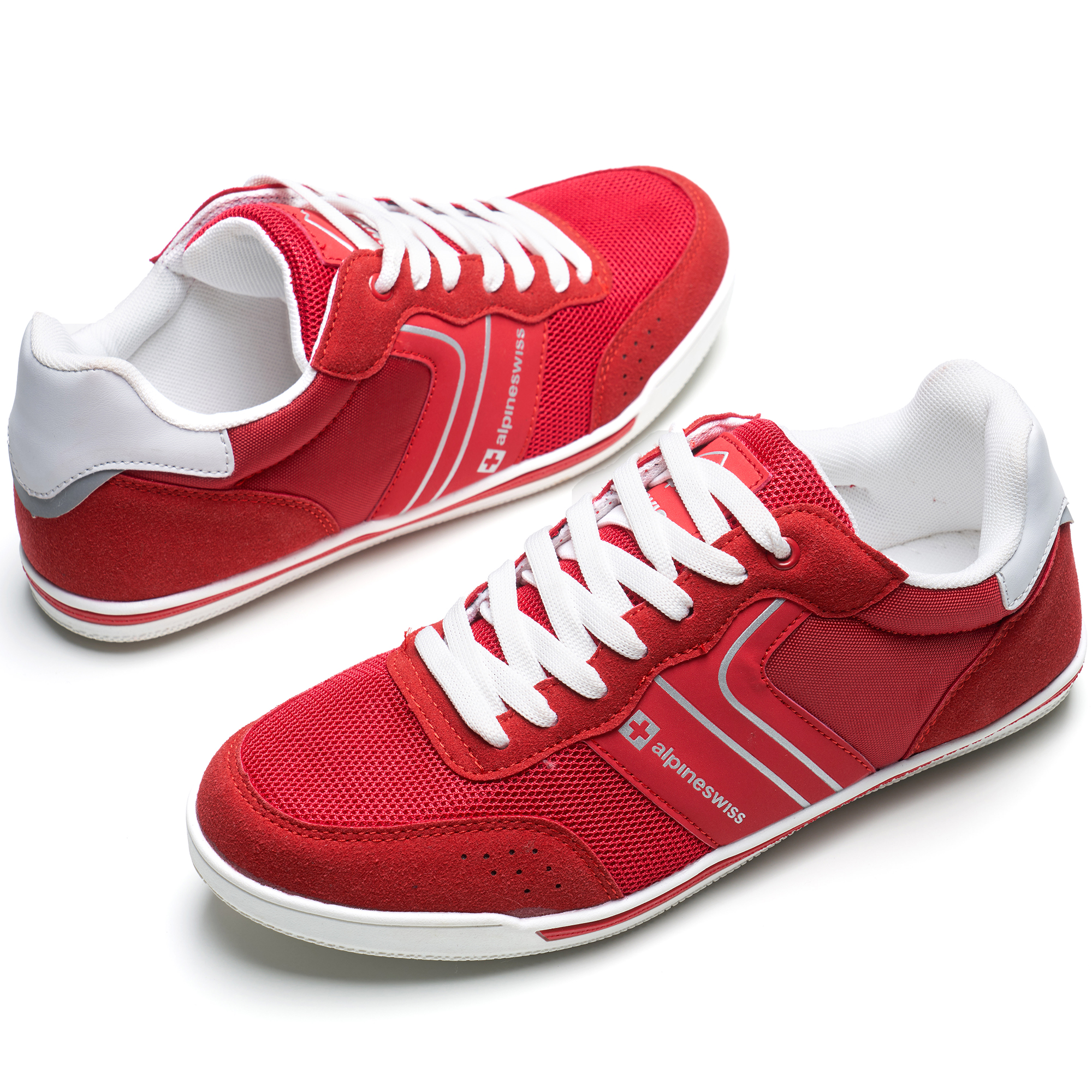 Alpine-Swiss-Liam-Mens-Fashion-Sneakers-Suede-Trim-Low-Top-Lace-Up-Tennis-Shoes thumbnail 51