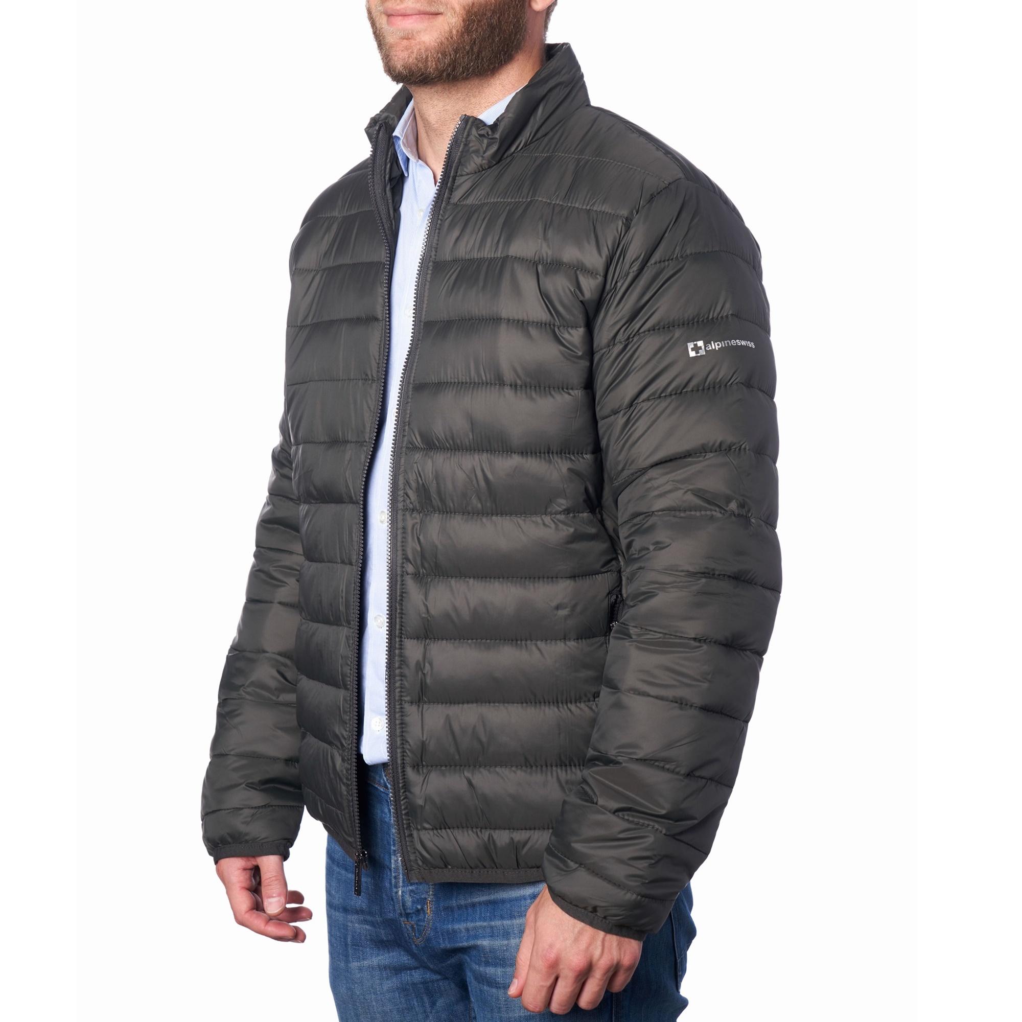 AlpineSwiss Niko Packable Light Mens Down Alternative Puffer Jacket Bubble  Coat | eBay