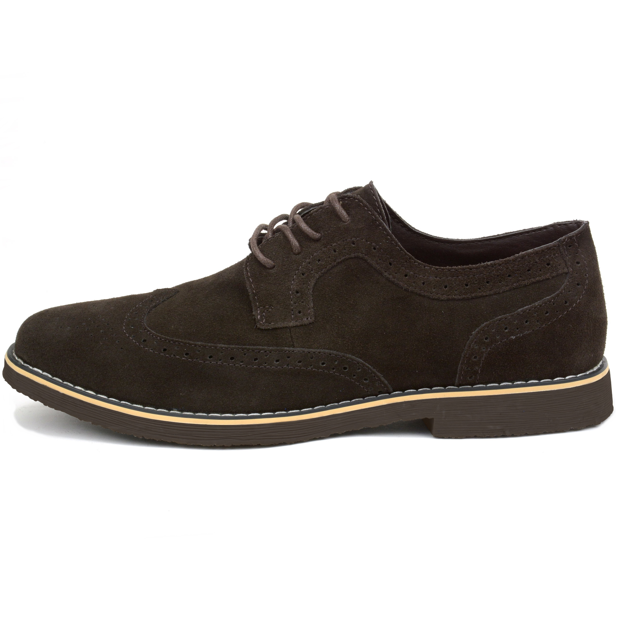 Alpine-Swiss-Beau-Mens-Dress-Shoes-Genuine-Suede-Wing-Tip-Brogue-Lace-Up-Oxfords thumbnail 35