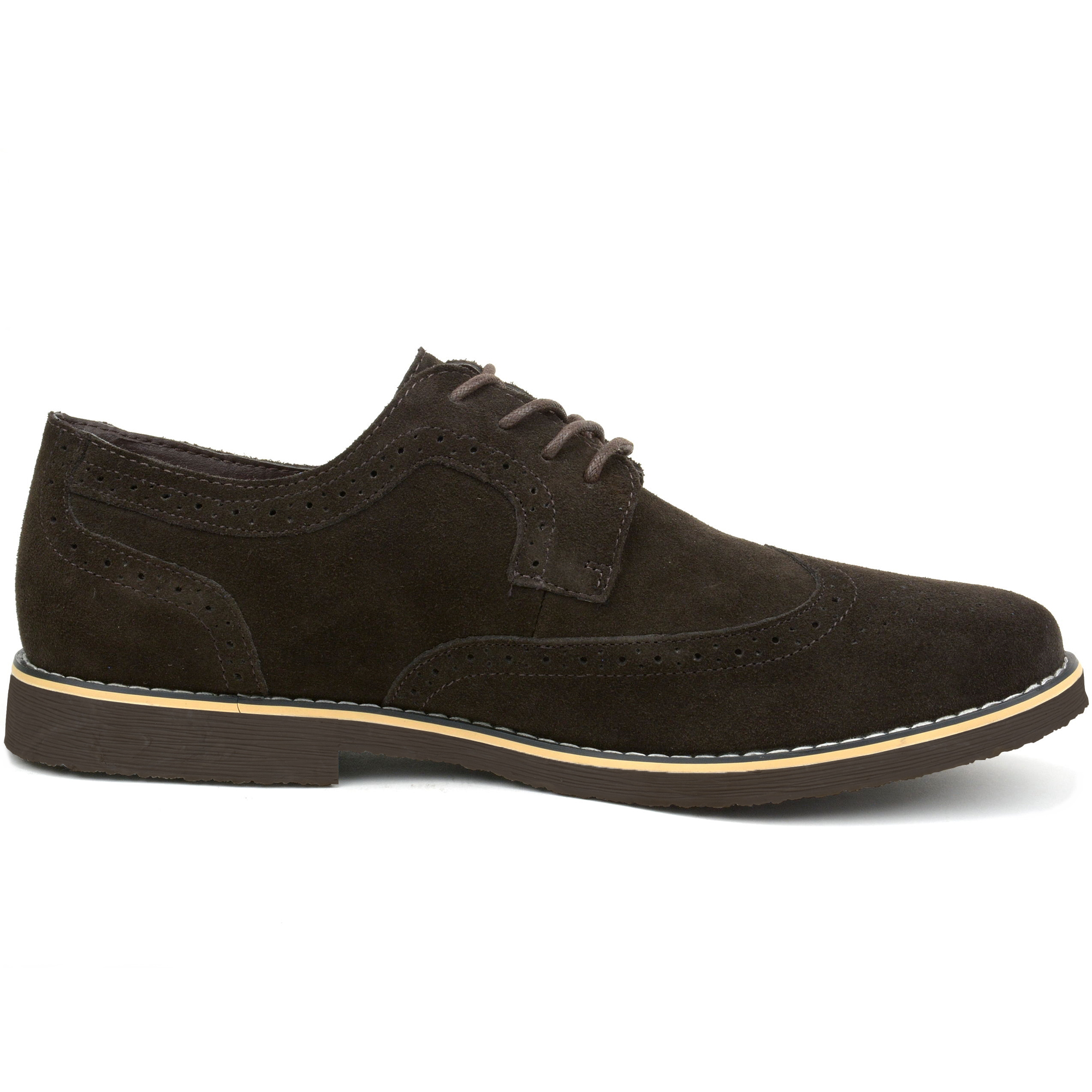 Alpine-Swiss-Beau-Mens-Dress-Shoes-Genuine-Suede-Wing-Tip-Brogue-Lace-Up-Oxfords thumbnail 36