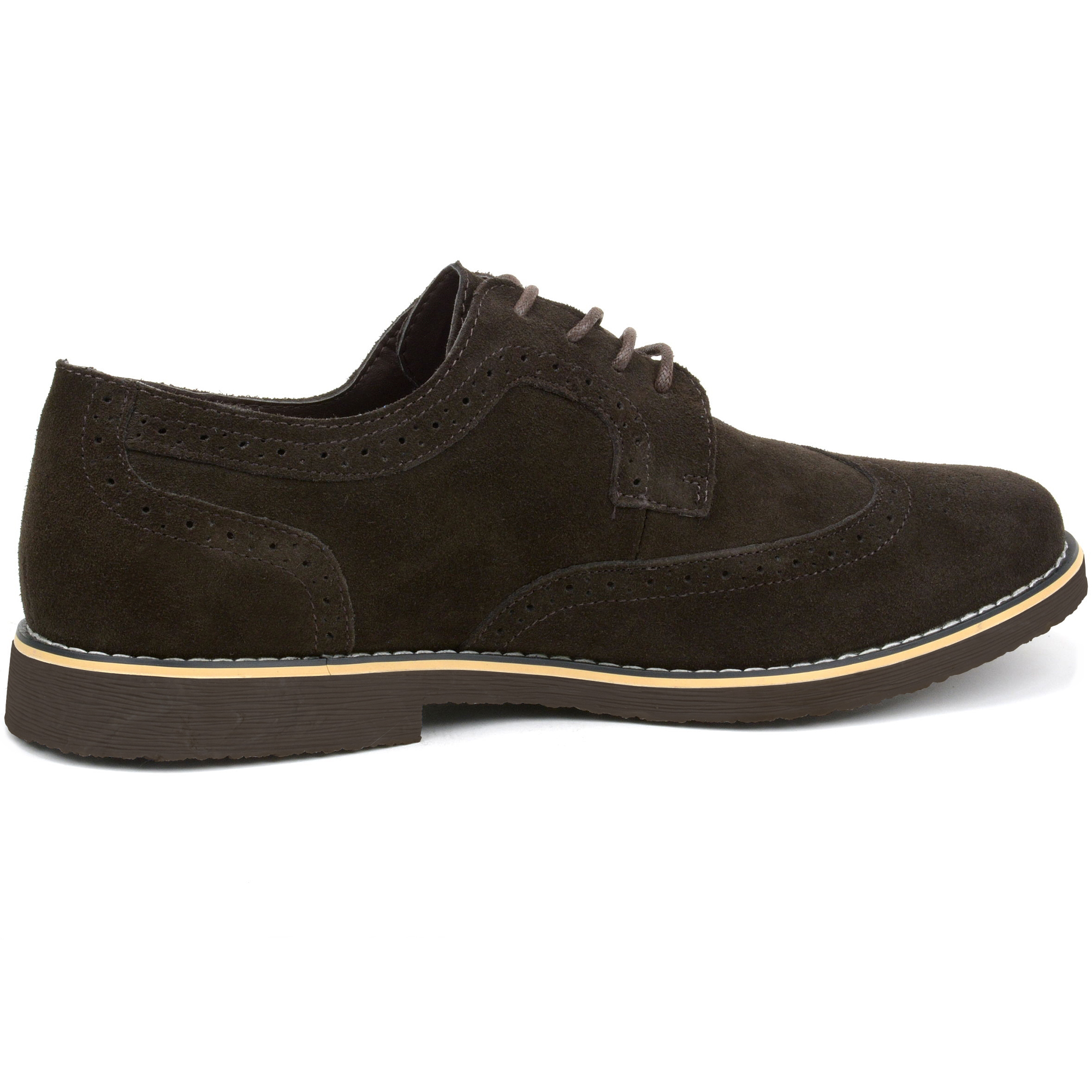 Alpine-Swiss-Beau-Mens-Dress-Shoes-Genuine-Suede-Wing-Tip-Brogue-Lace-Up-Oxfords thumbnail 37