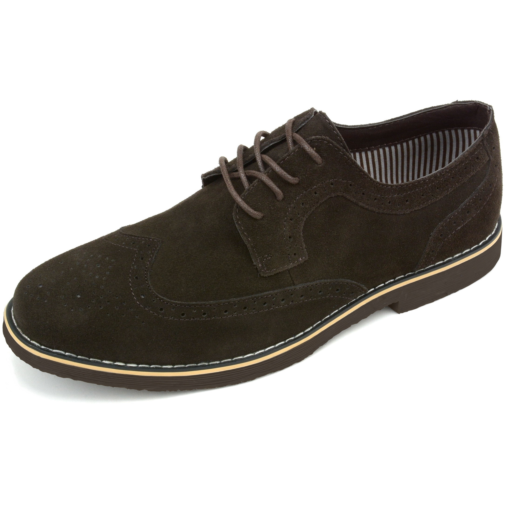 Alpine-Swiss-Beau-Mens-Dress-Shoes-Genuine-Suede-Wing-Tip-Brogue-Lace-Up-Oxfords thumbnail 38