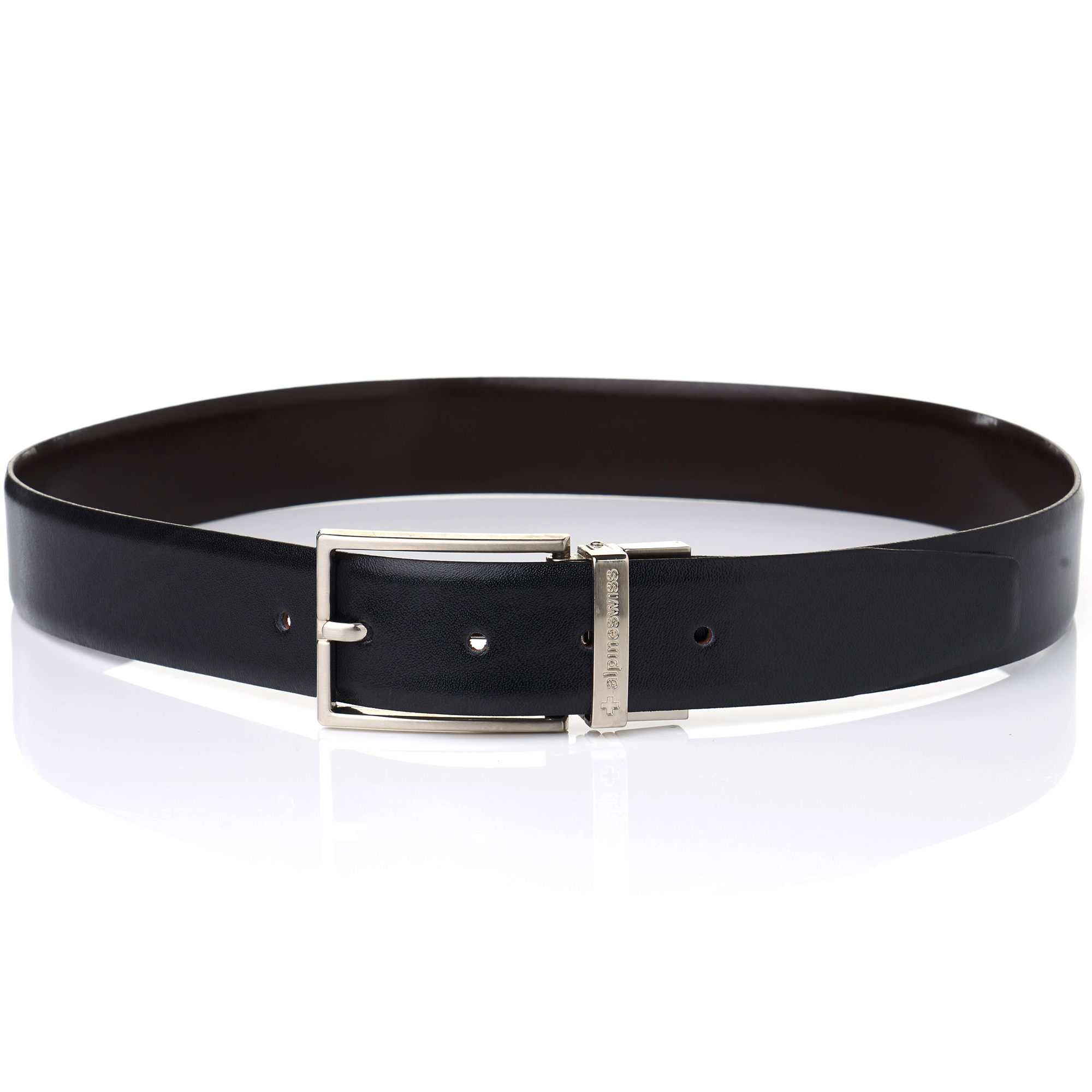 Alpine-Swiss-Mens-Dress-Belt-Reversible-Black-Brown-Leather-Imported-from-Spain thumbnail 17